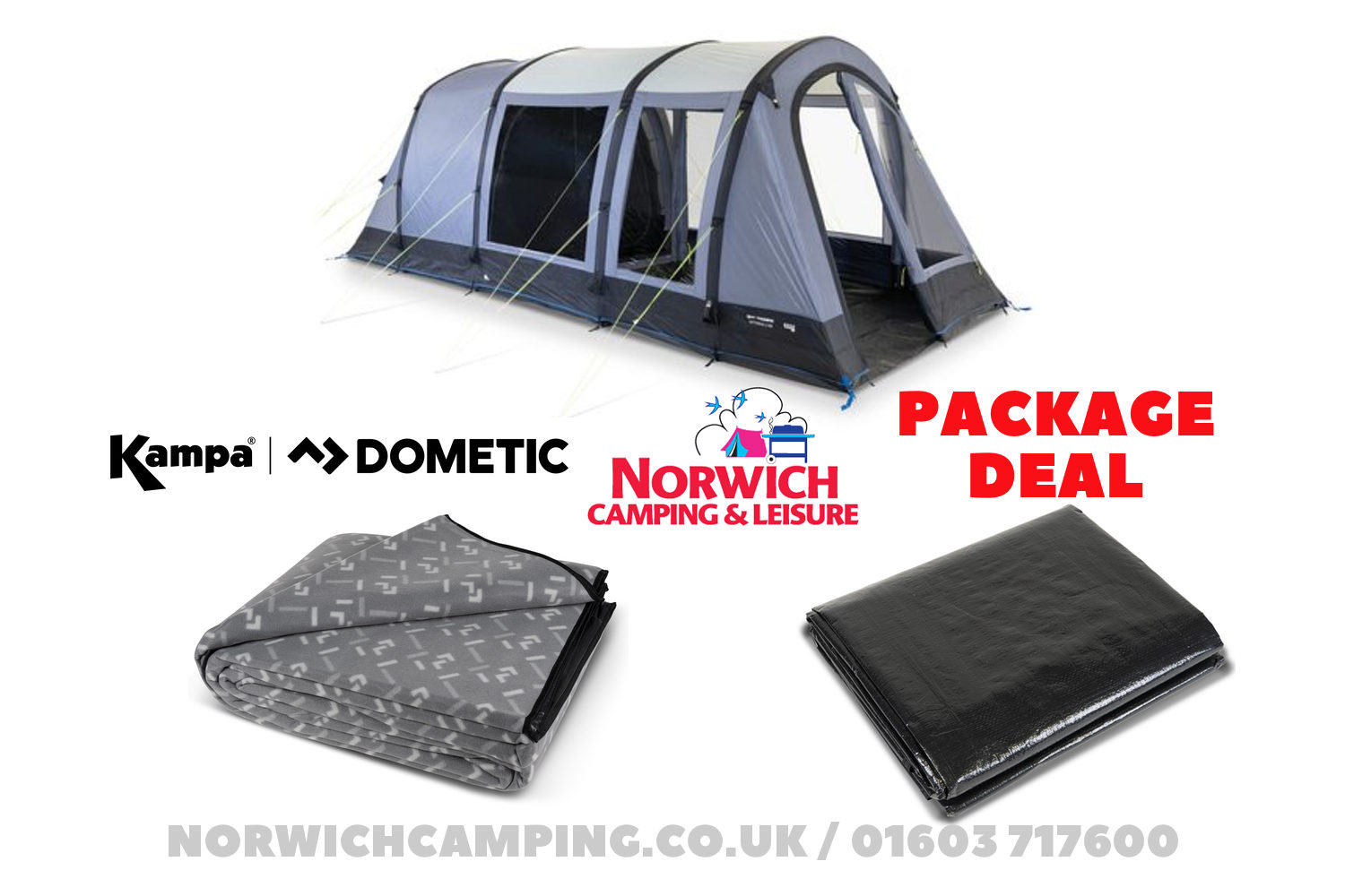 Kampa Dometic Wittering 4 Air Package Deal