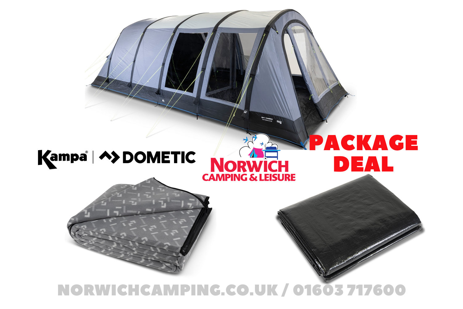 Kampa Dometic Wittering 6 Air Package Deal