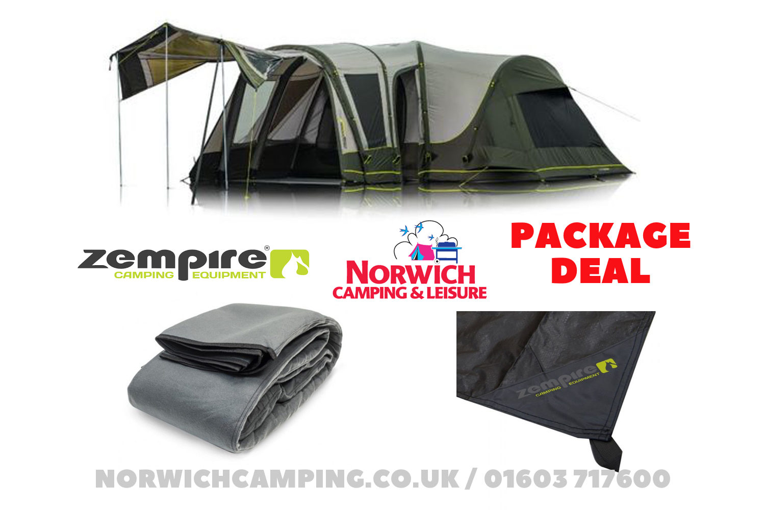 Zempire Aerodome Ii Pro Air 6 Tent Package Deal