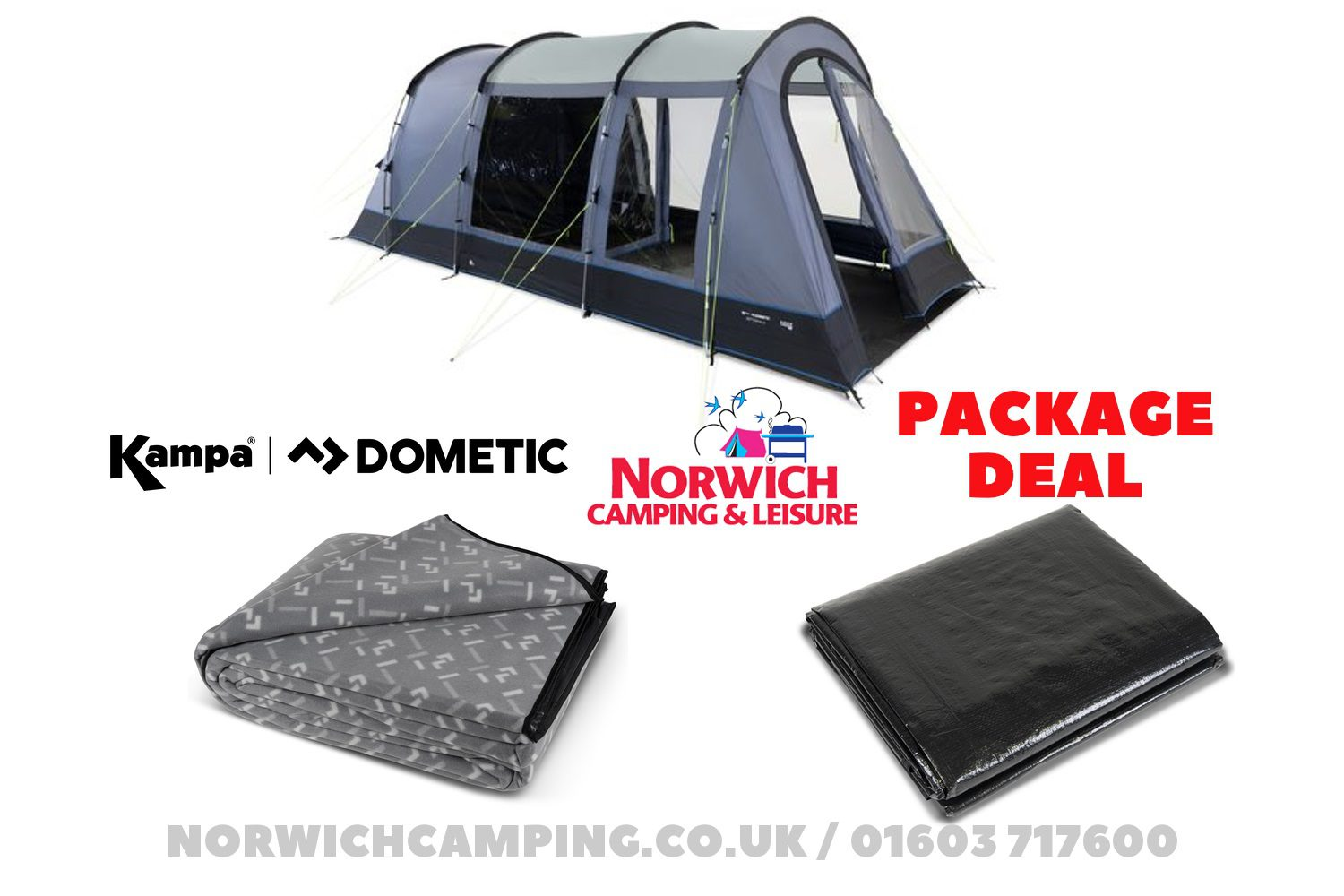 Kampa Dometic Wittering 4 Poled Package Deal