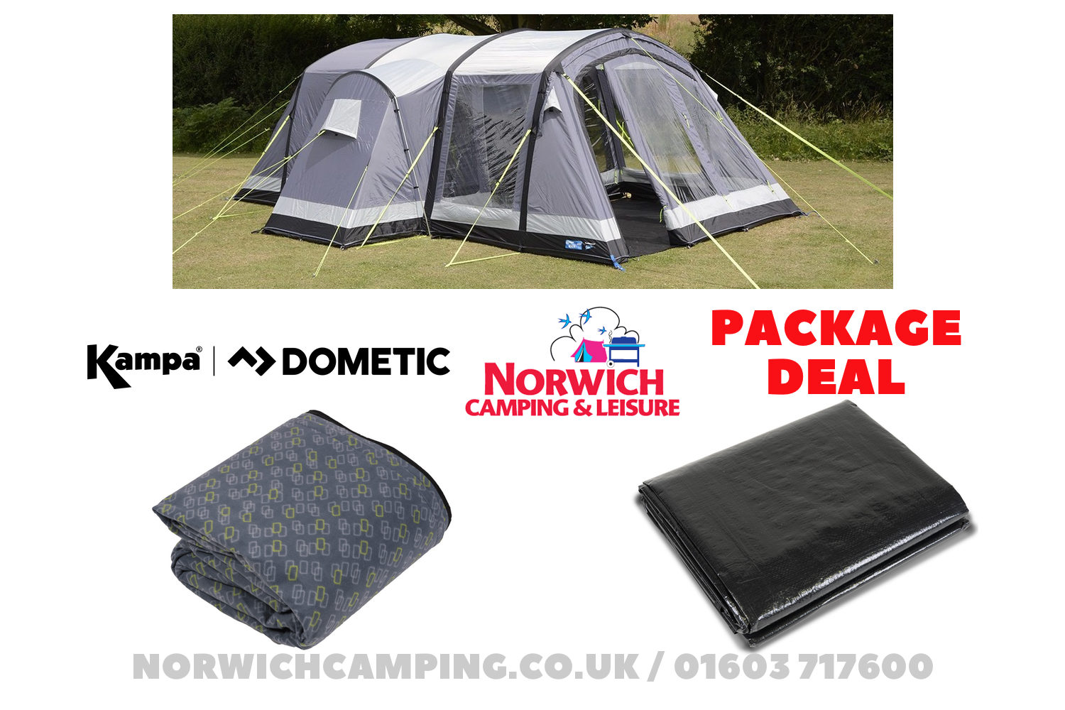 Kampa Bergen 4 Tent Package Deal