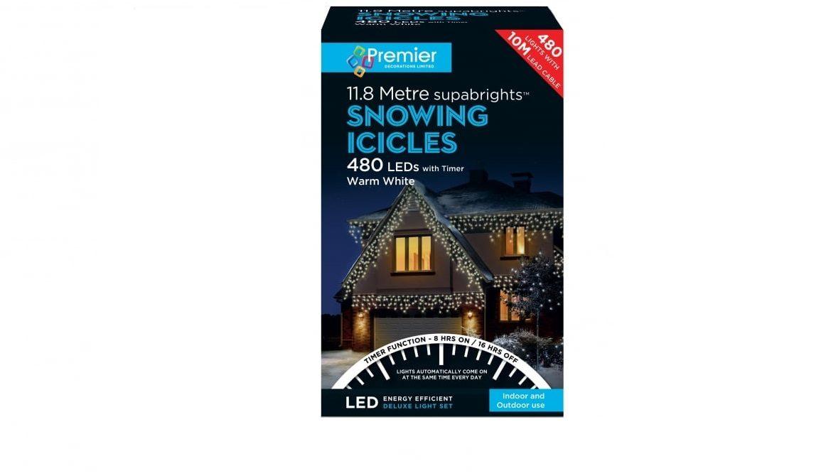 480 Led Icicles Warm White