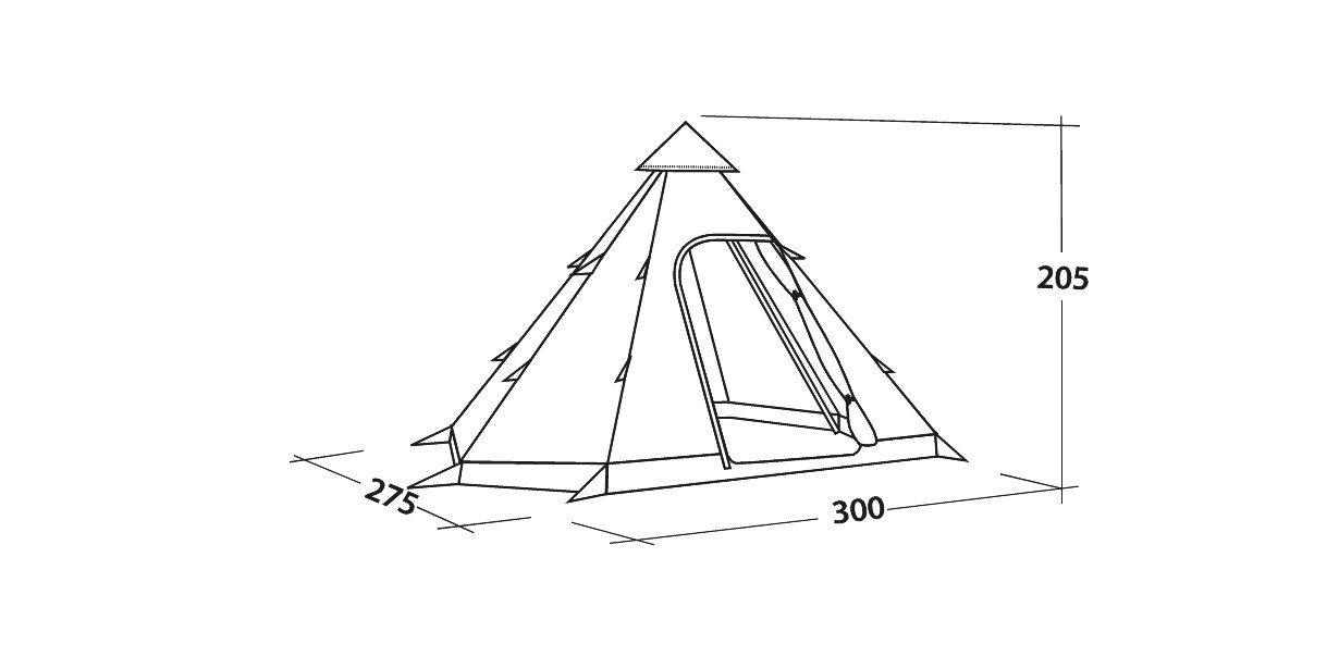 Easycamp Bolide 400 Tipi Tent