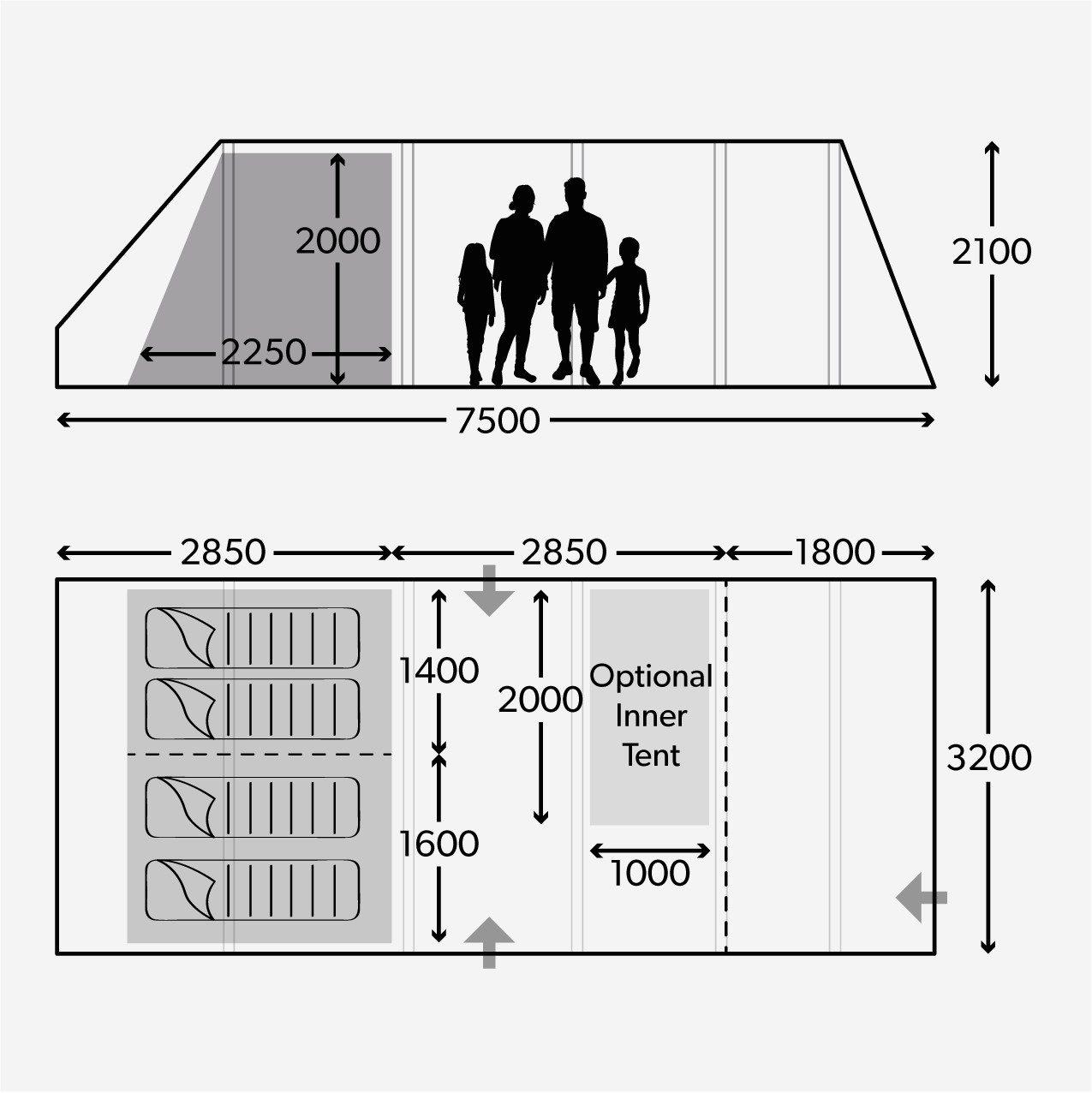 Dometic Floorplan for Ascension 401