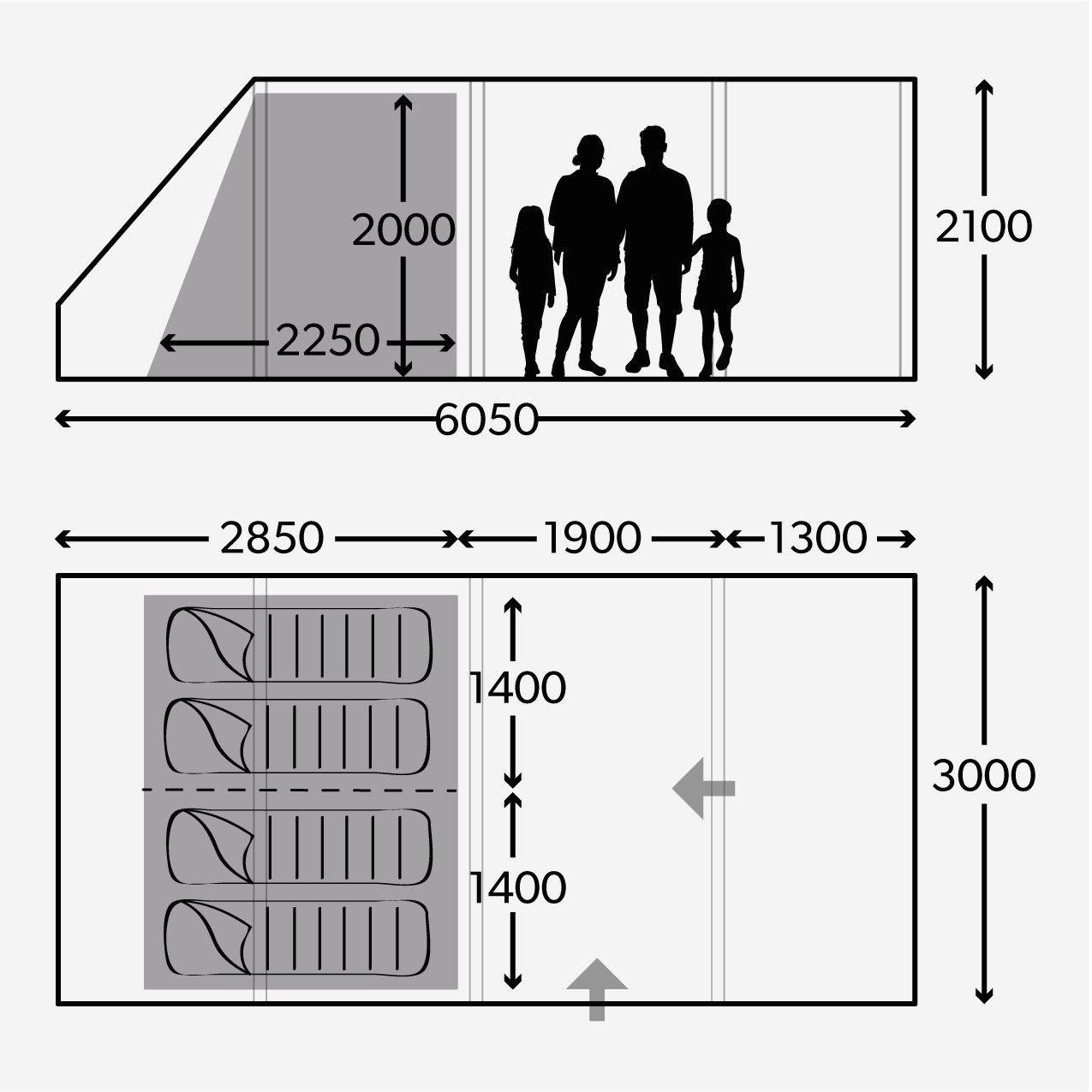 Dometic Floorplan for Rarotonga 401