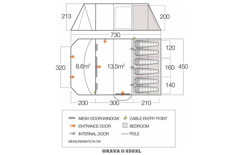 Vango Orava Ii 650Xl Floor Plan