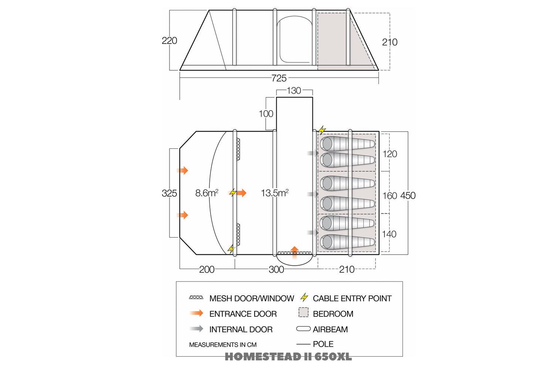 Vango Homestead Ii 650Xl Floor Plan