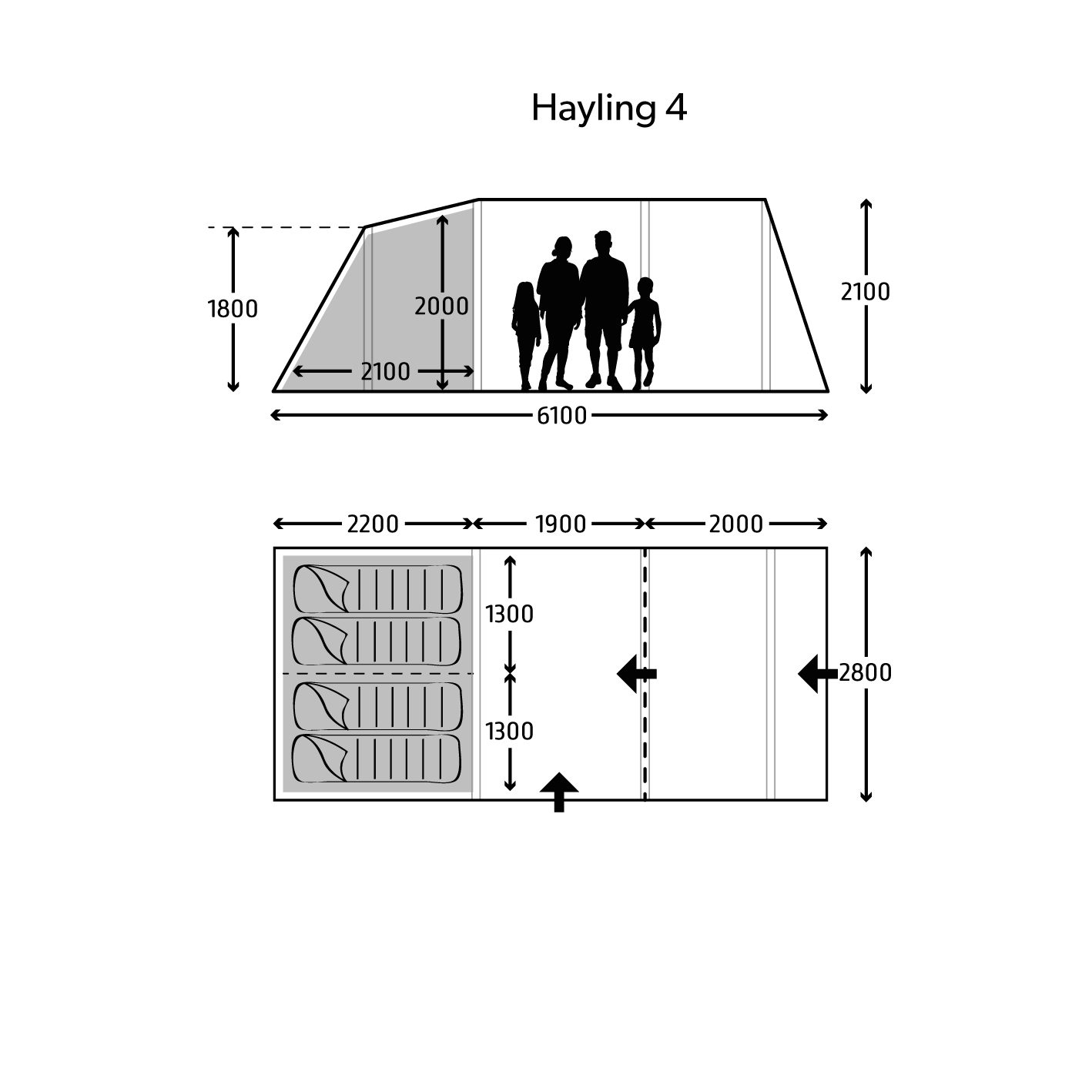 Kampa Hayling 4 Air Tent 2021