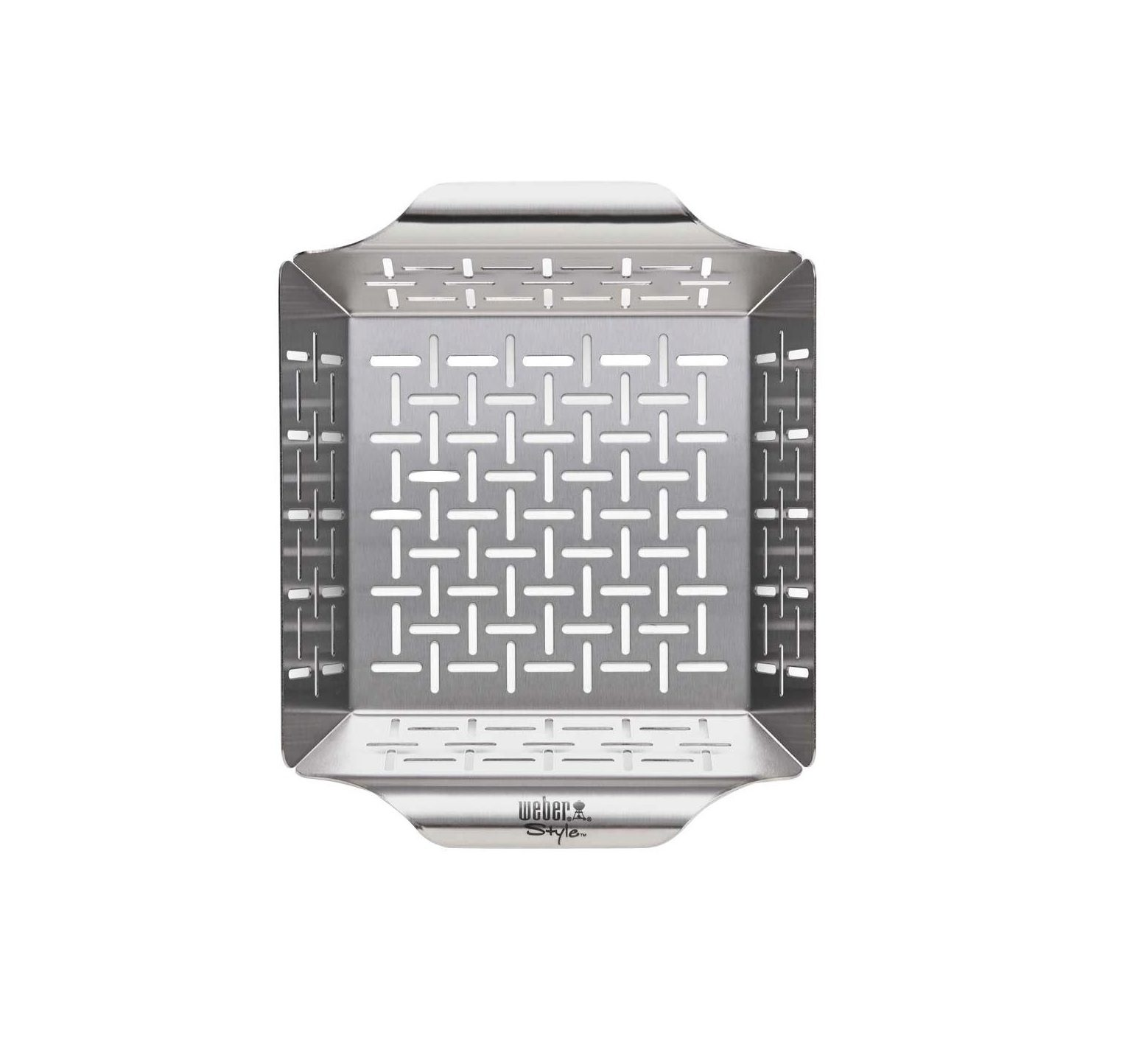 Weber deluxe stainless steel deluxe grilling basket - small