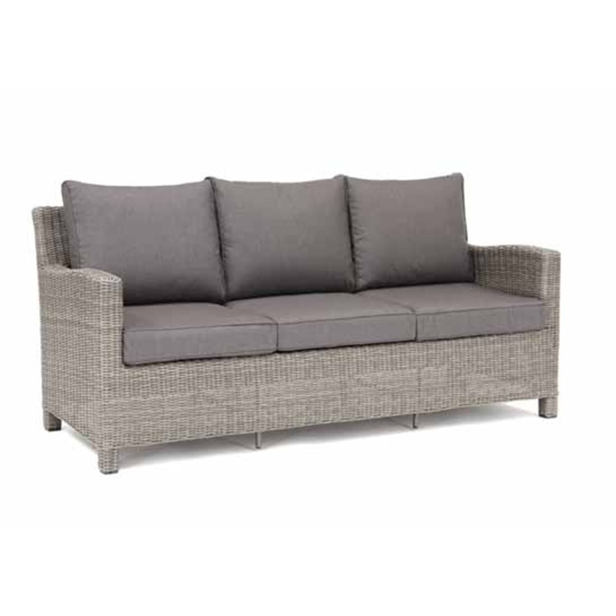 Palma 3 Seat Sofa in white wash