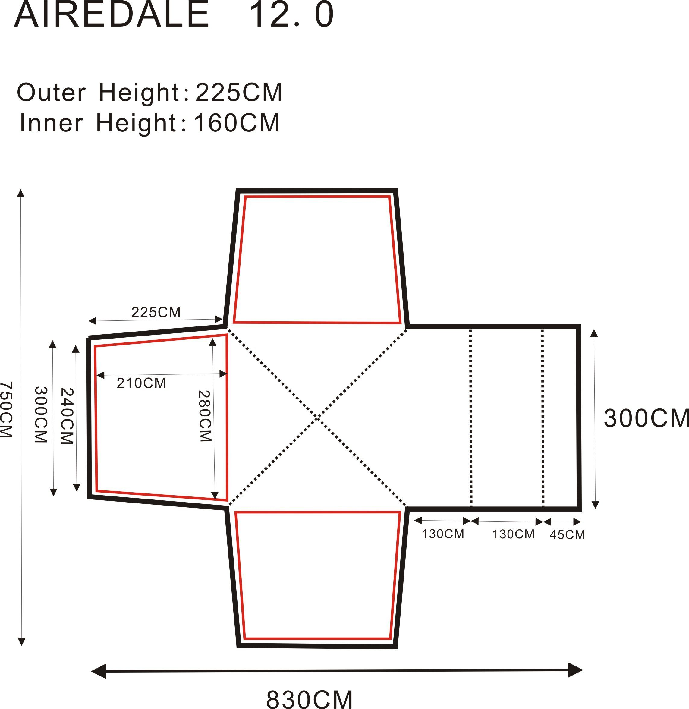 Outdoor Revolution Airdale 12 Tent 8