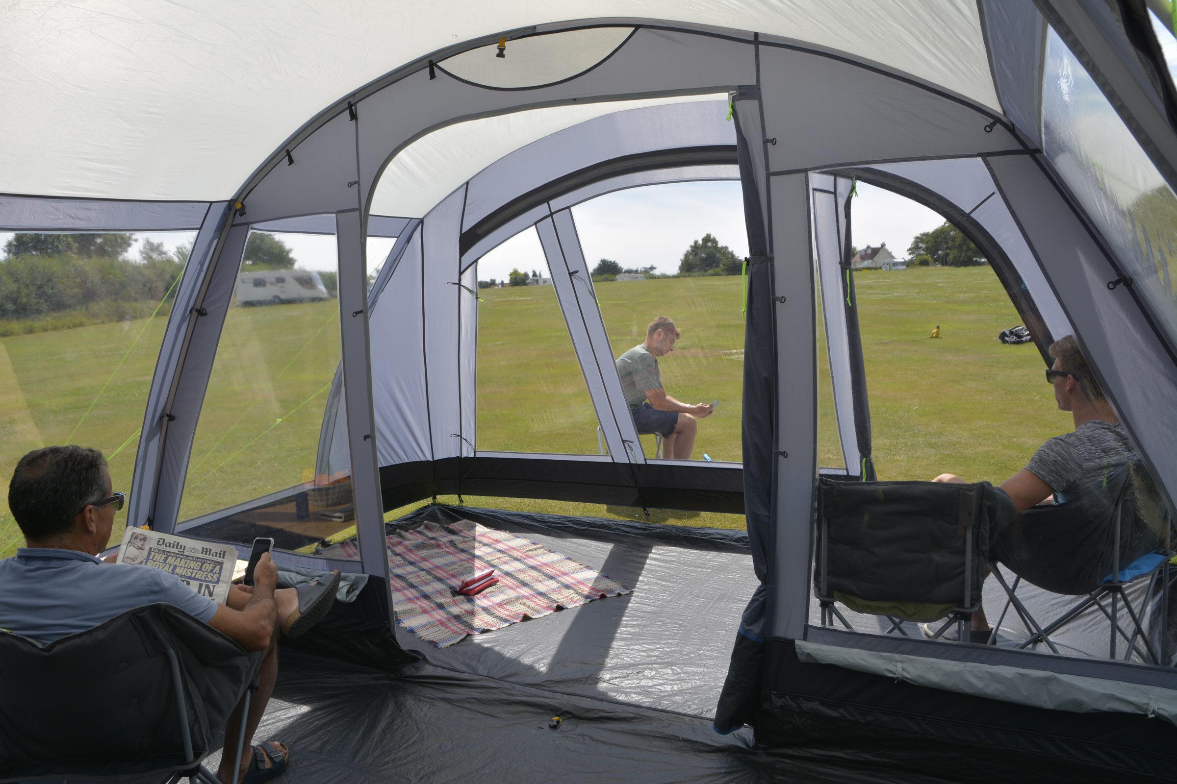 Kampa Texel 6 Poled Tent interior