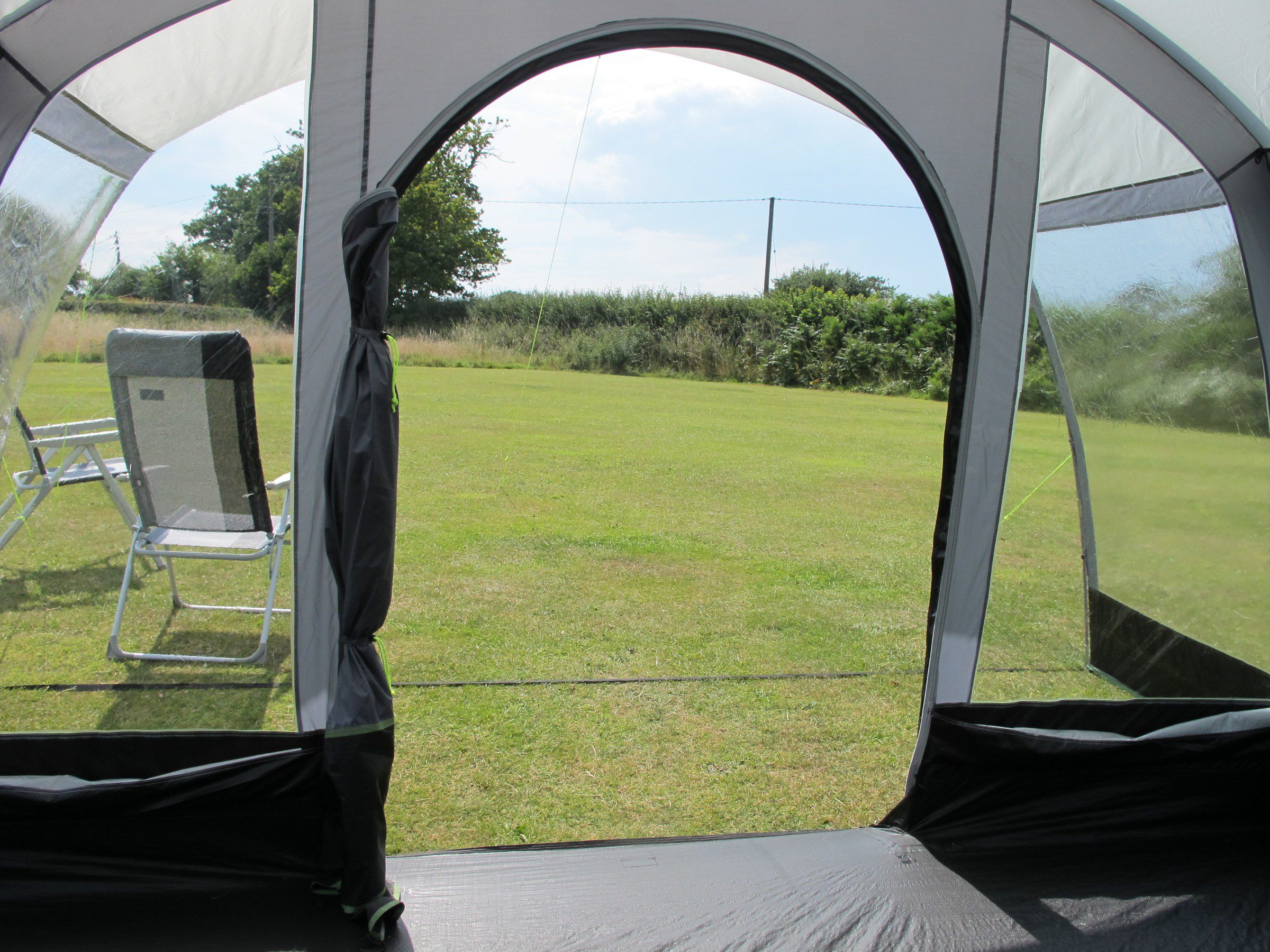 Kampa Hayling 6 Tent 2018 front door view