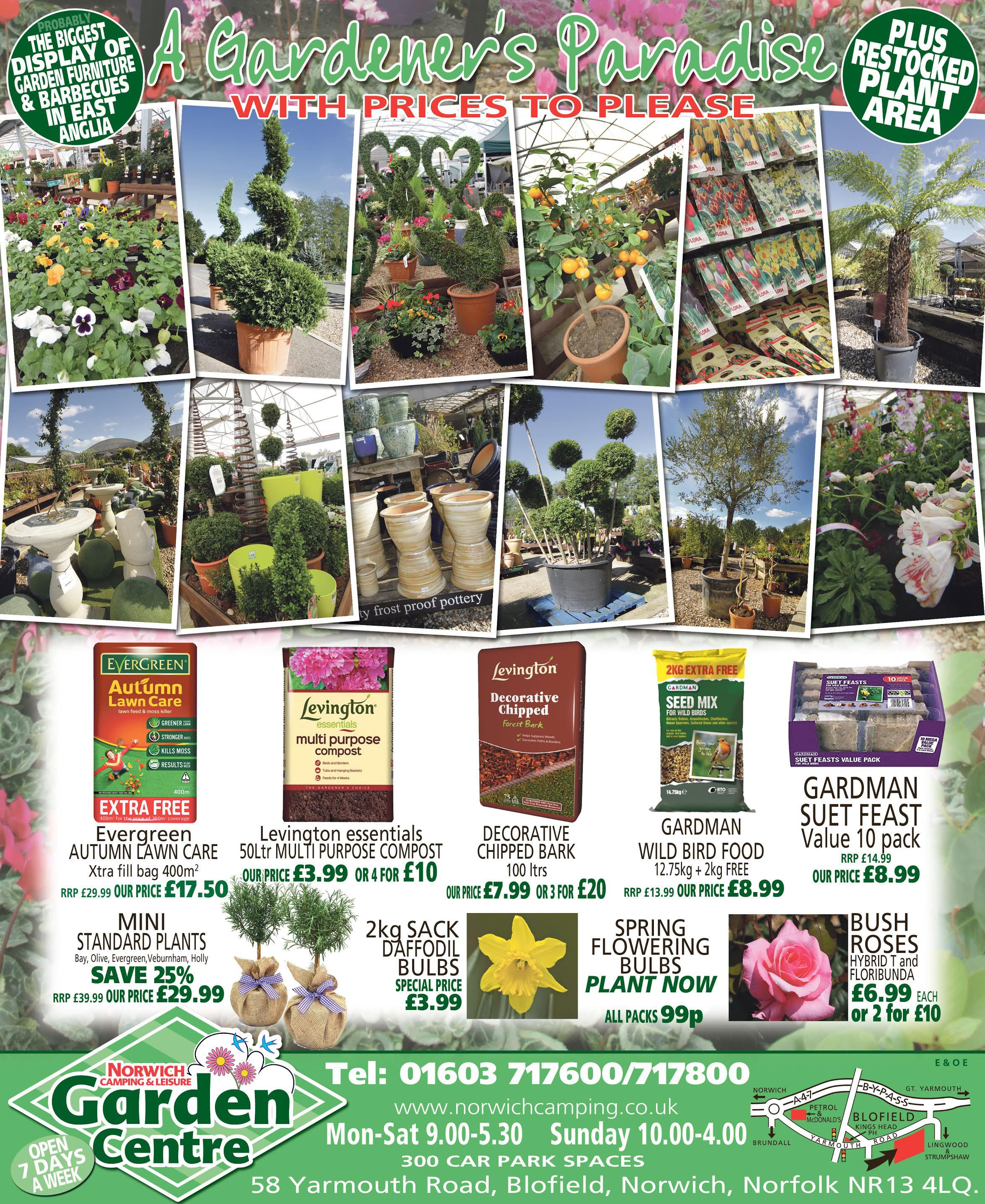 Norwich Camping & Leisure - Garden Centre OFFERS