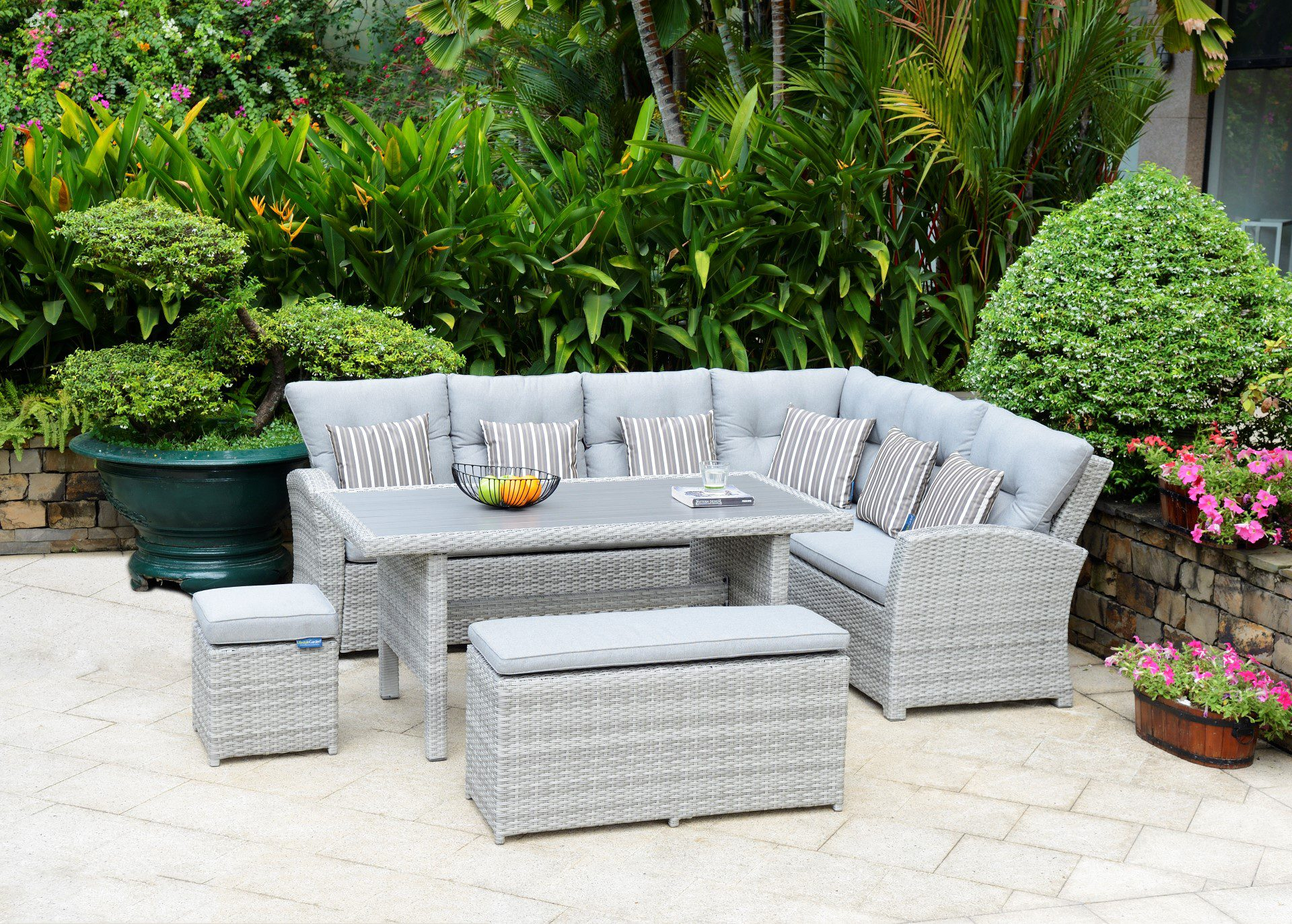 Lifestyle Garden Furniture Aruba Lite Rectangular Corner