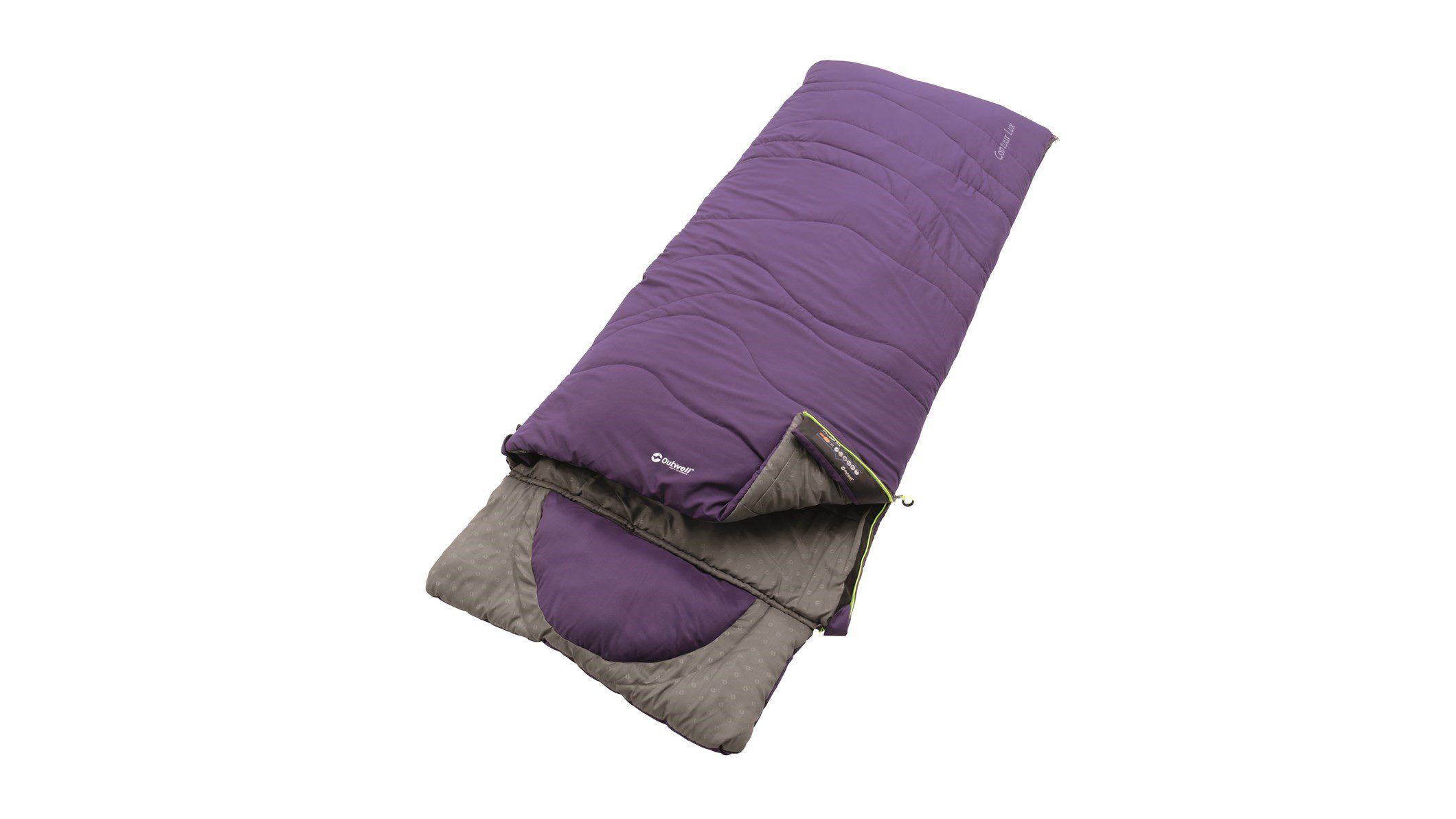 Outwell Contour Lux Sleeping Bag - Purple