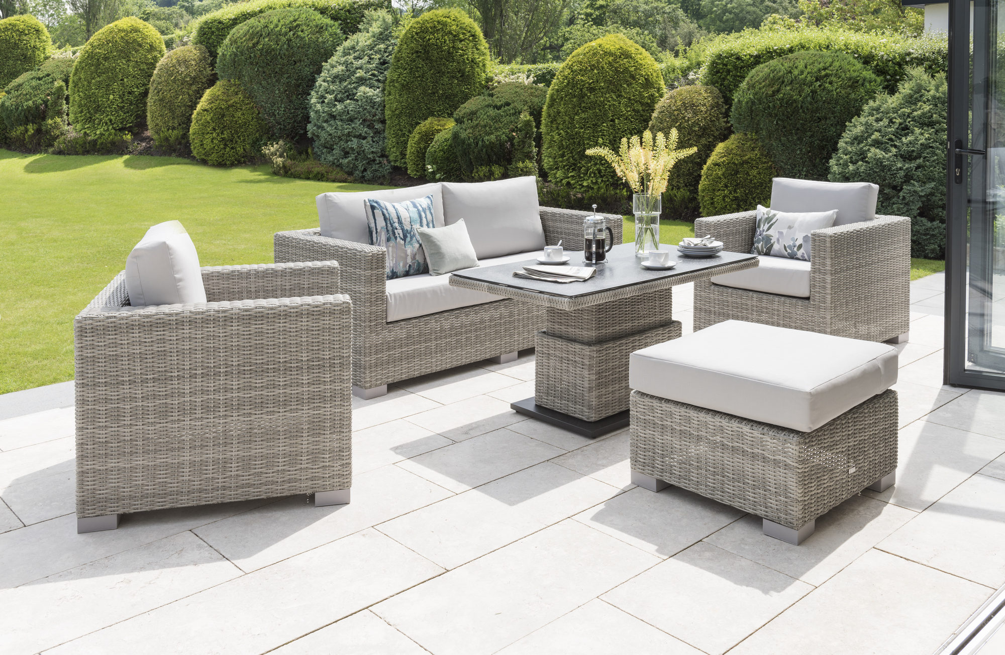 Life Outdoor Aya Lounge Set yacht grey