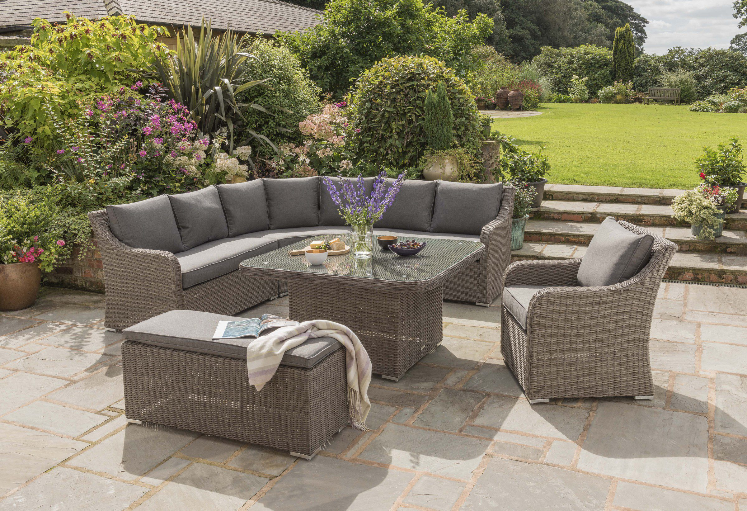 Kettler Madrid Full Corner Set Rattan