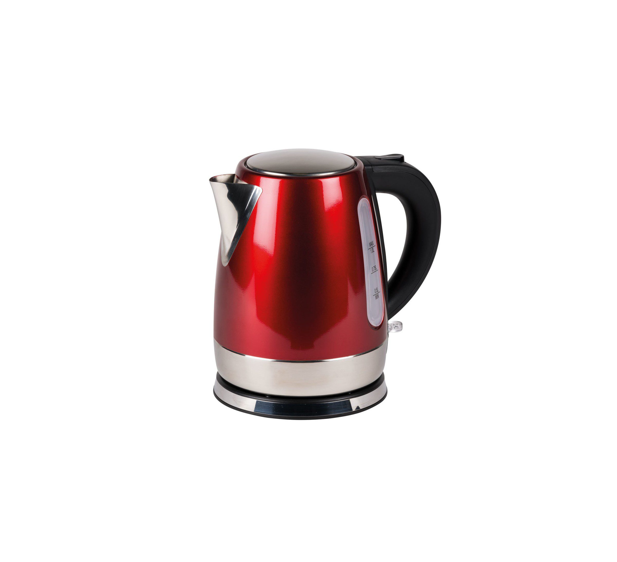 Kampa Cascade 1L red stainless steel kettle