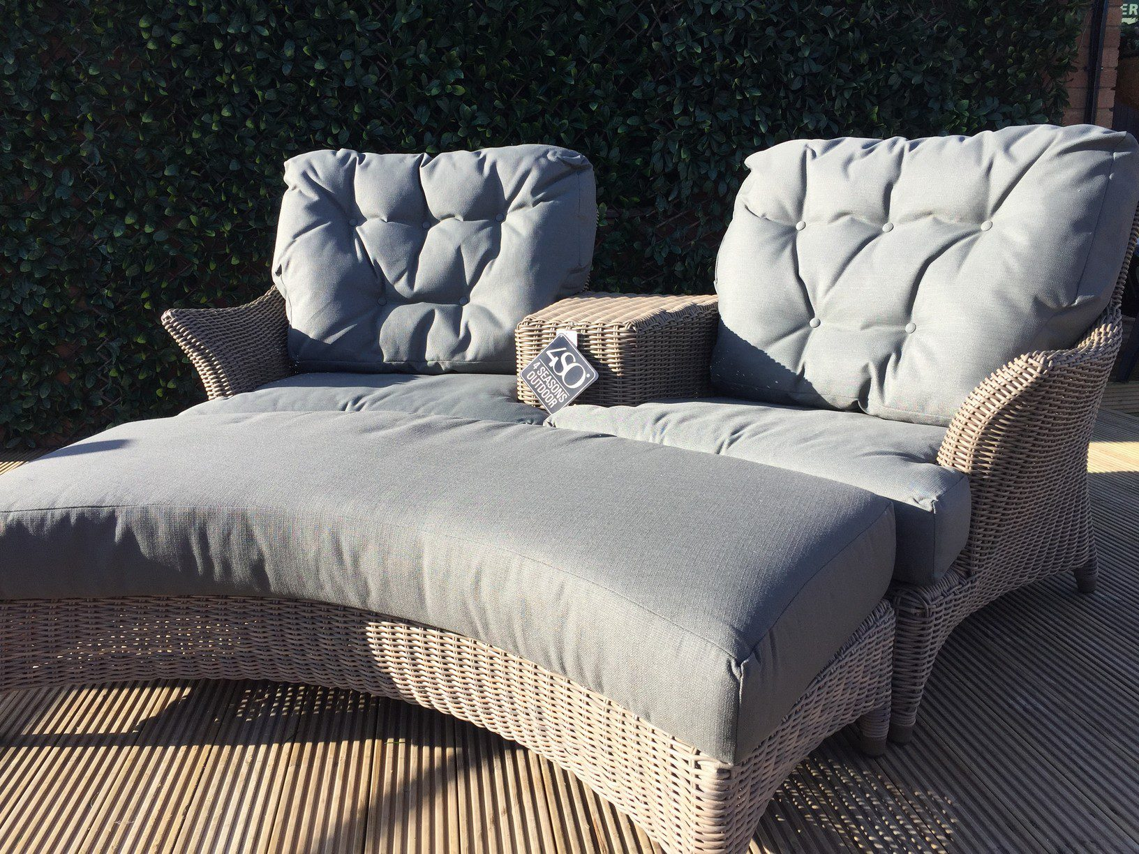 4 Seasons Outdoor Valentine Love Seat With Footrest 5