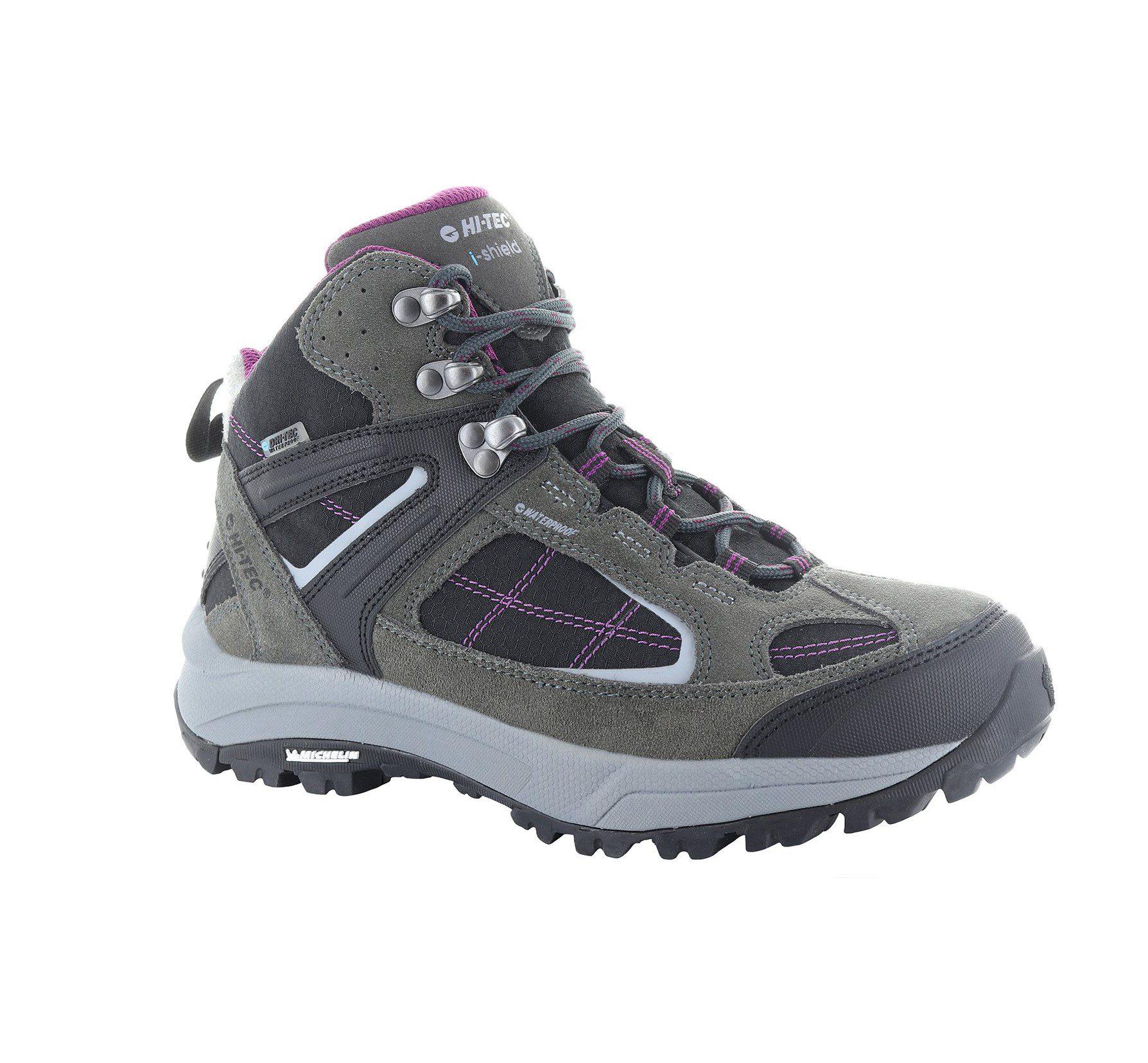 Hi-Tec Altitude womens VI mid Lite I boots - charcoal/amaranth