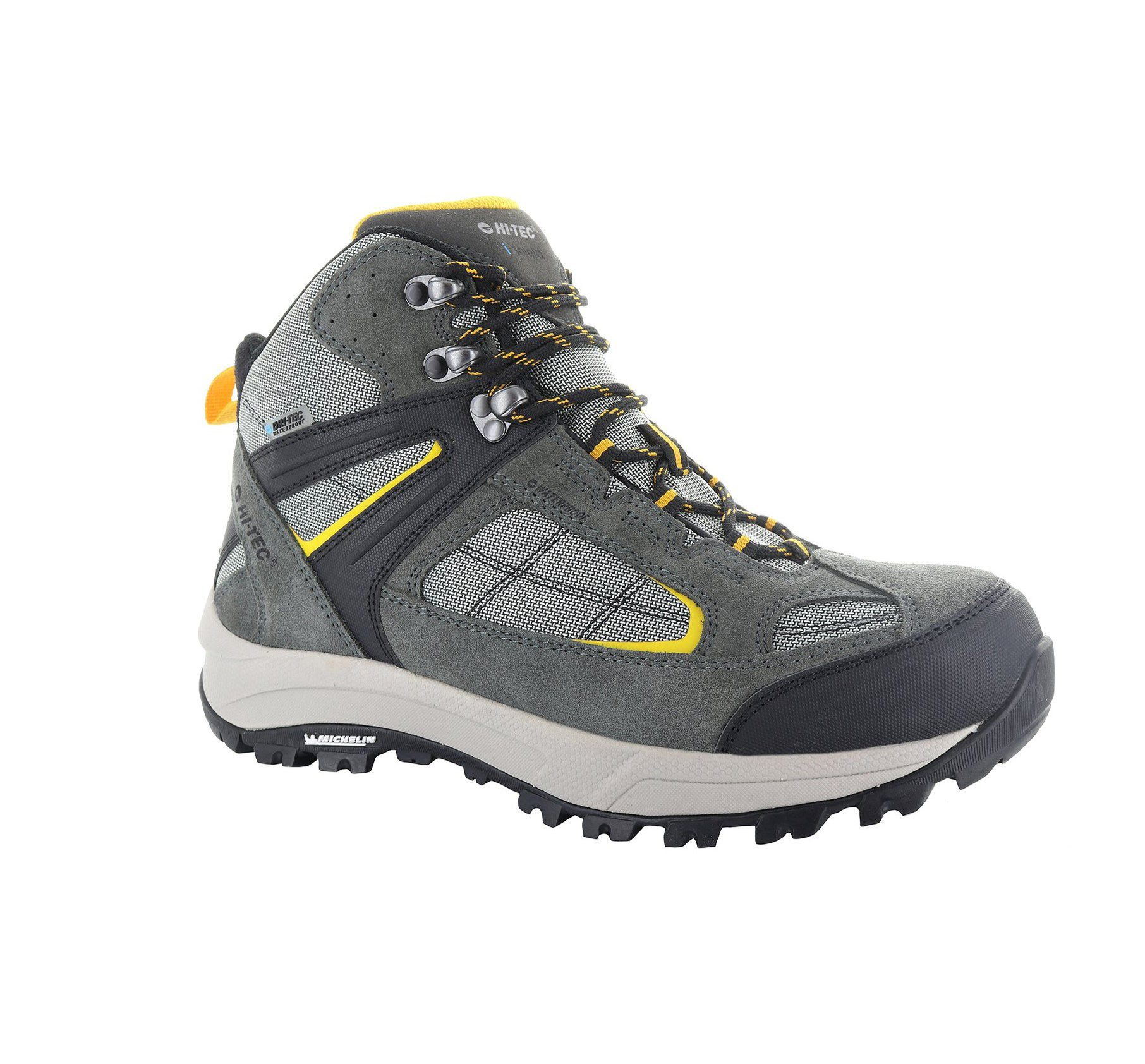 Hi Tec Men's Altitude V1 Lite Boots - Charcoal - gold