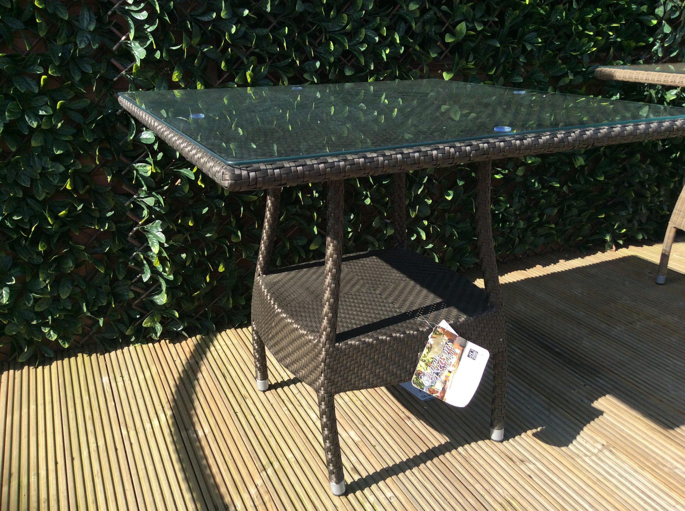 4 seasons outdoor cafe dining table 90cm garden furniture
