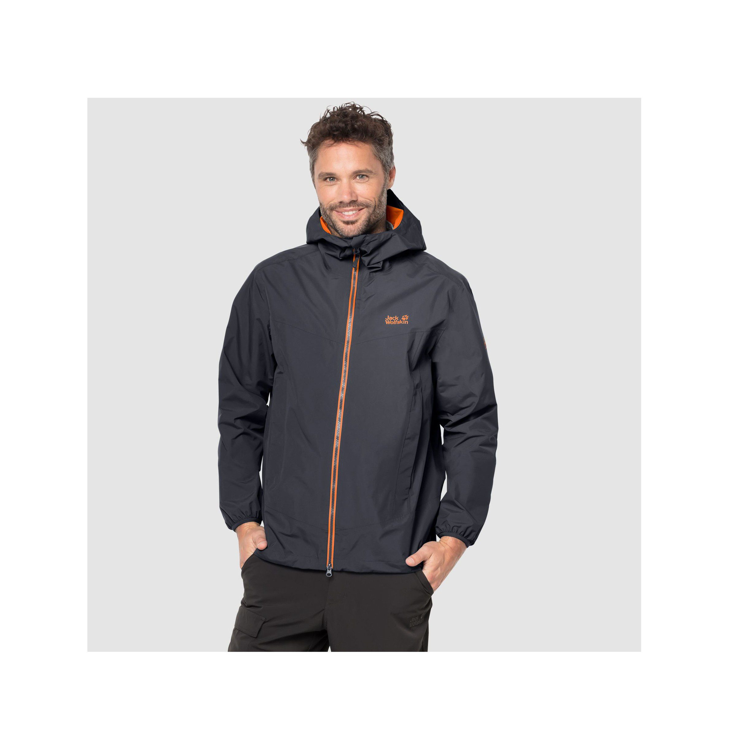 Jack Wolfskins Mens Colourburst jacket - ebony