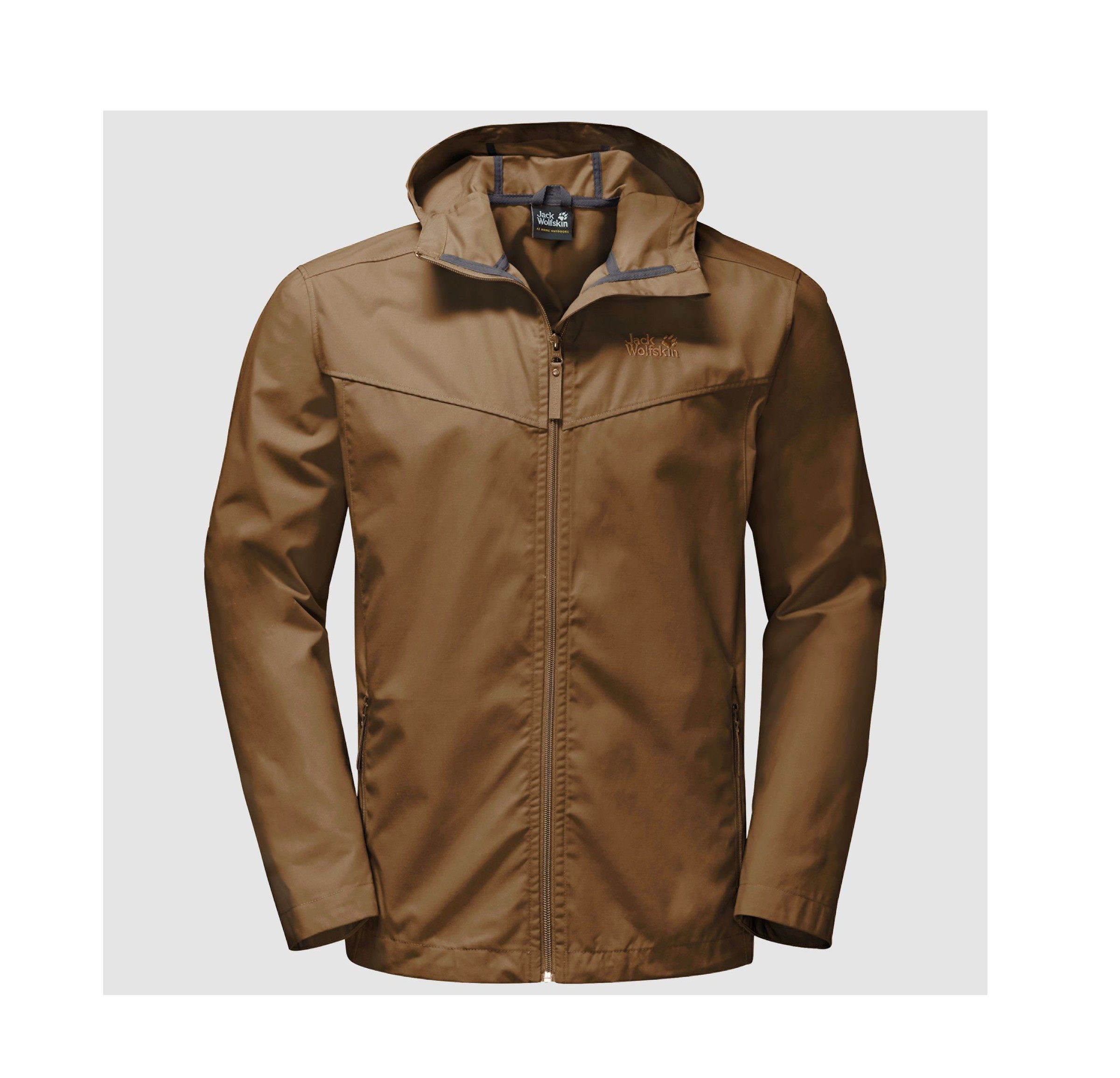 Jack Wolfskin Mens Amber Road Jacket - Deer Brown