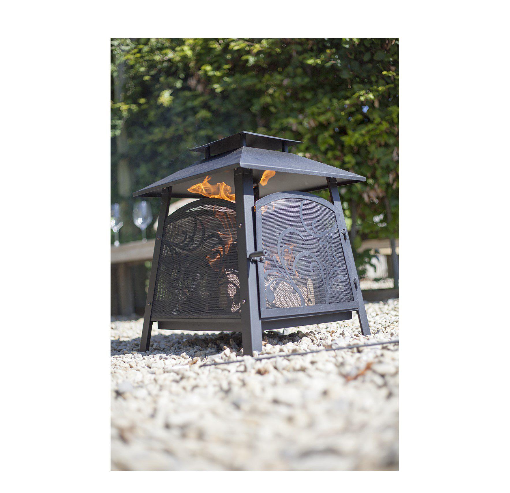 La Hacienda Sakura Steel fireplace