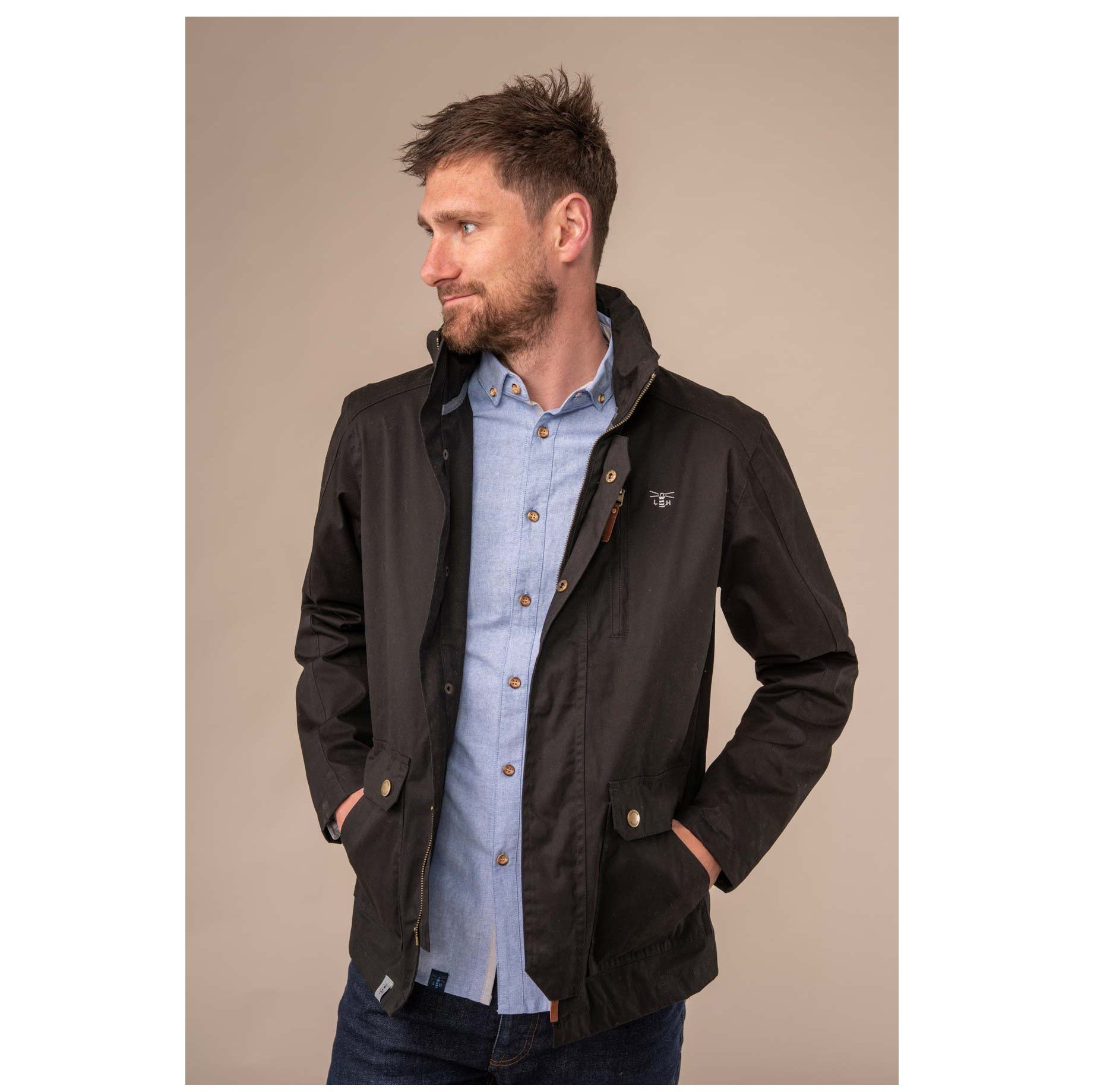 Lighthouse Islander Coat - Black.