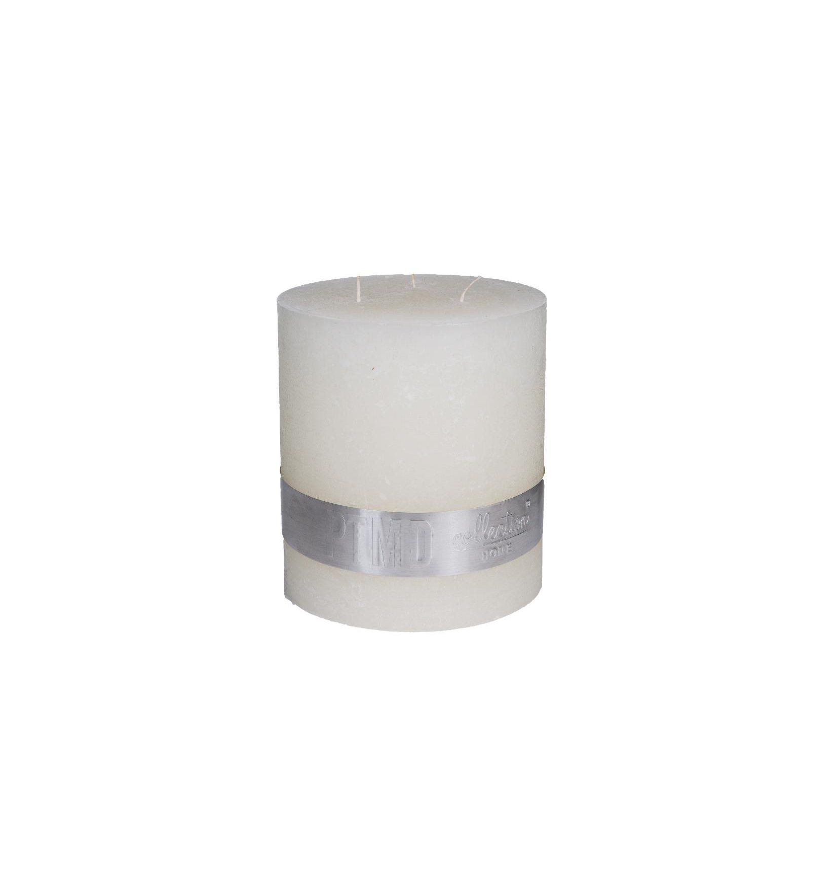 Rustic Hot White 3 Wick Candle 18X16