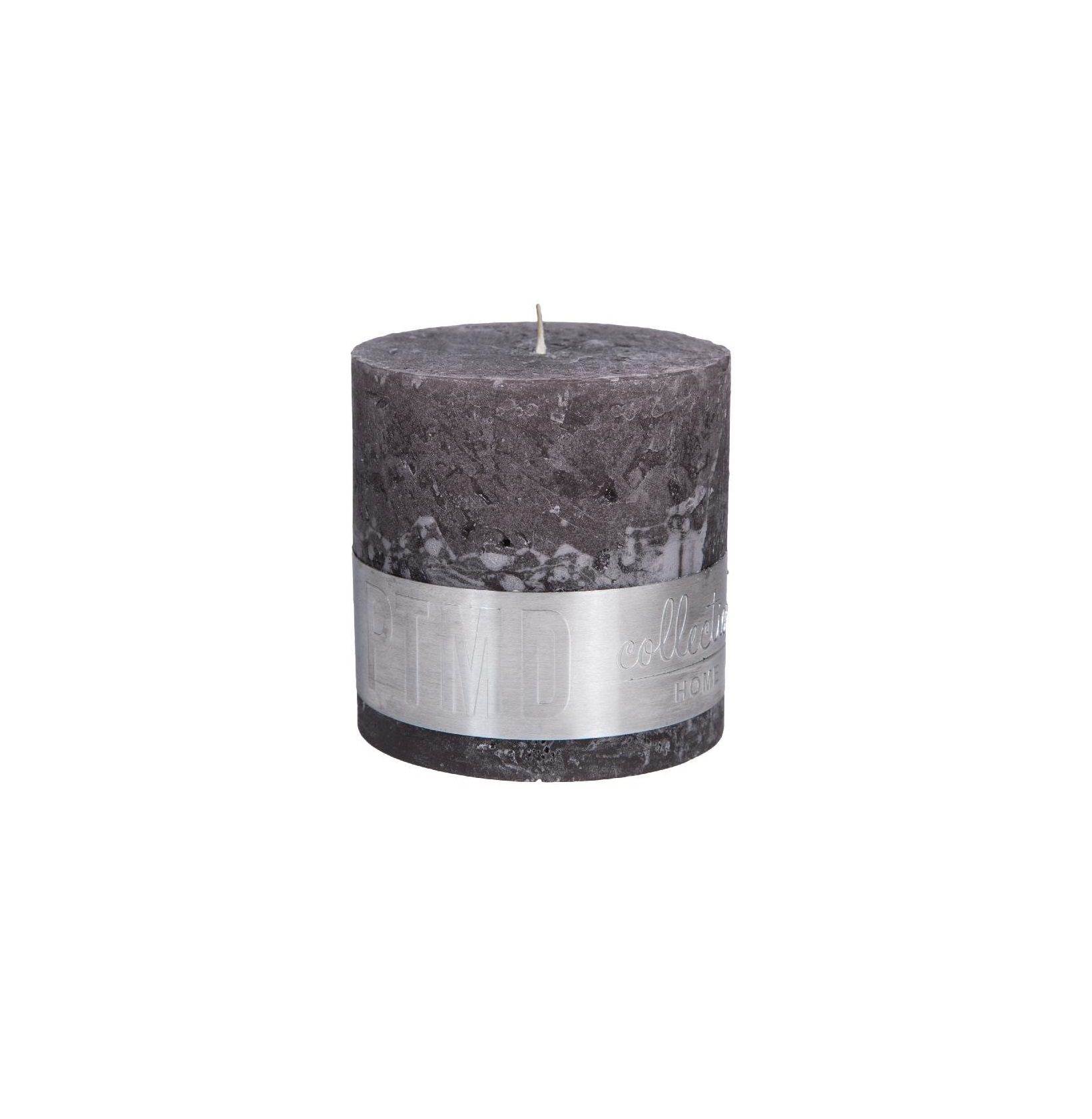 Rustic Swish Grey Block Candle 10X10