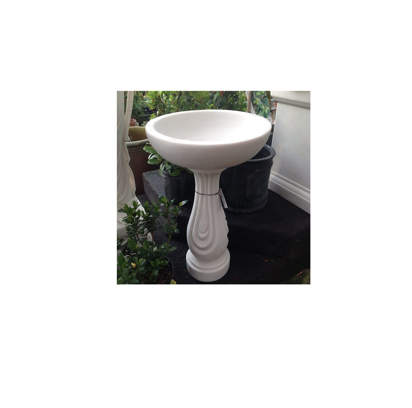 Enigma Ripple Bird Bath White