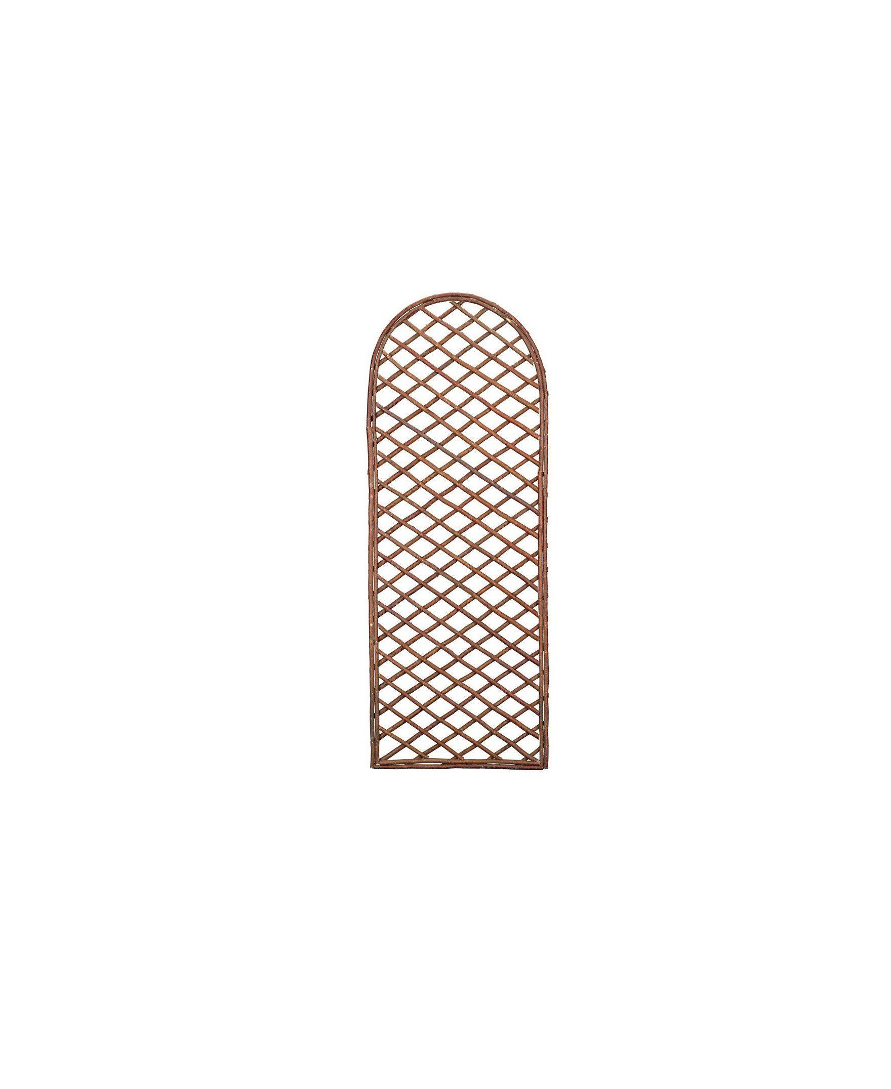 Gardman 1.8m x 0.6m Framed Willow Trellis Panel - Curved Top