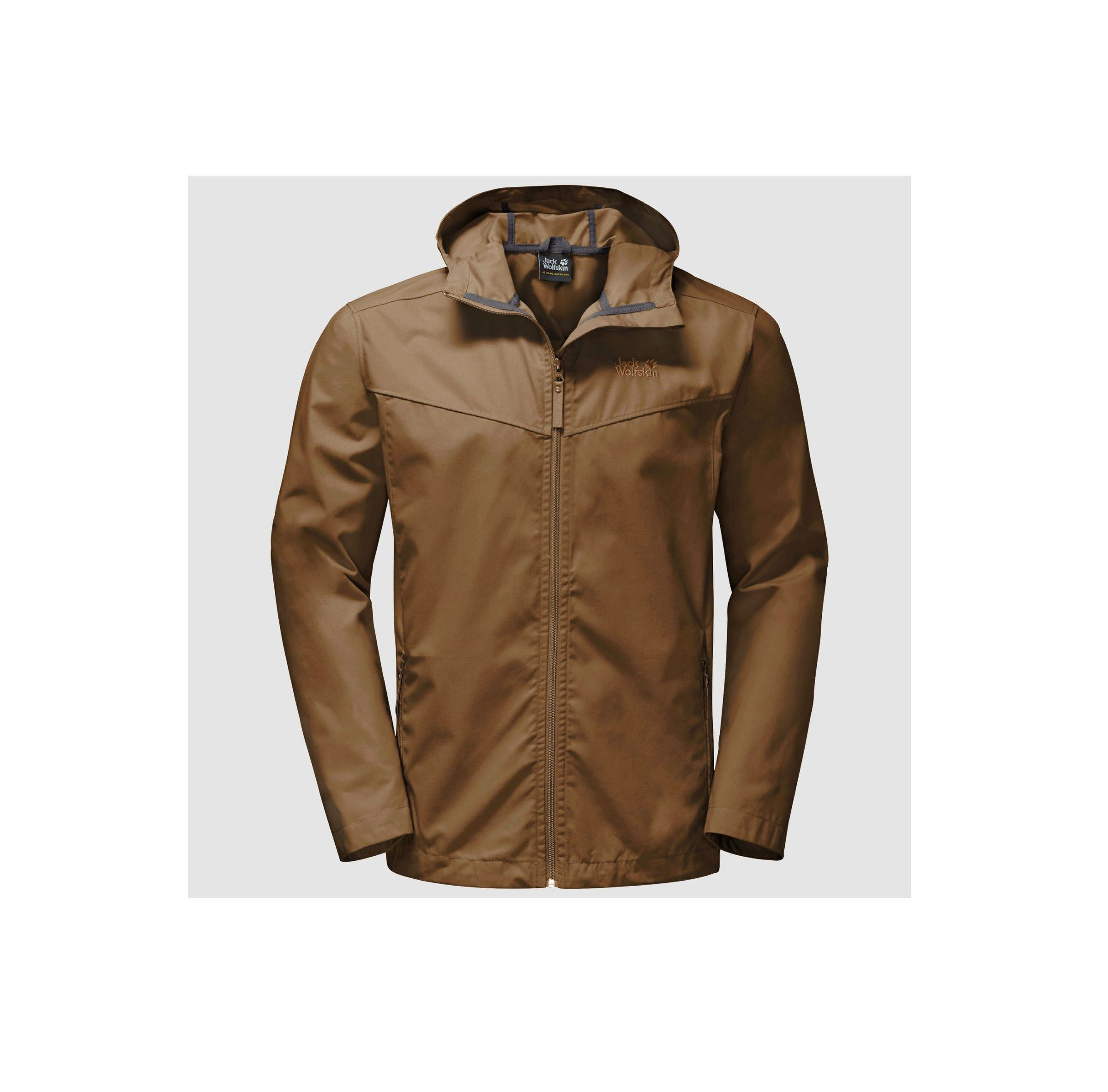 Jack Wolfskin Mens Amber Road Jacket Deer Brown