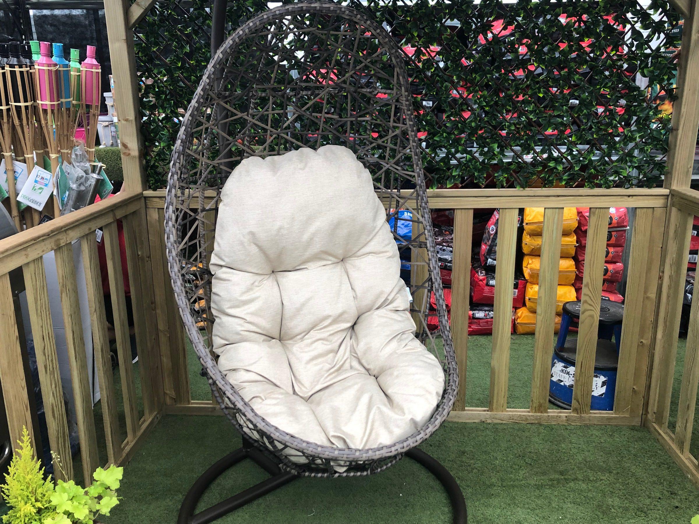 LeisureGrow Half-Moon Weave Hanging Egg Chair