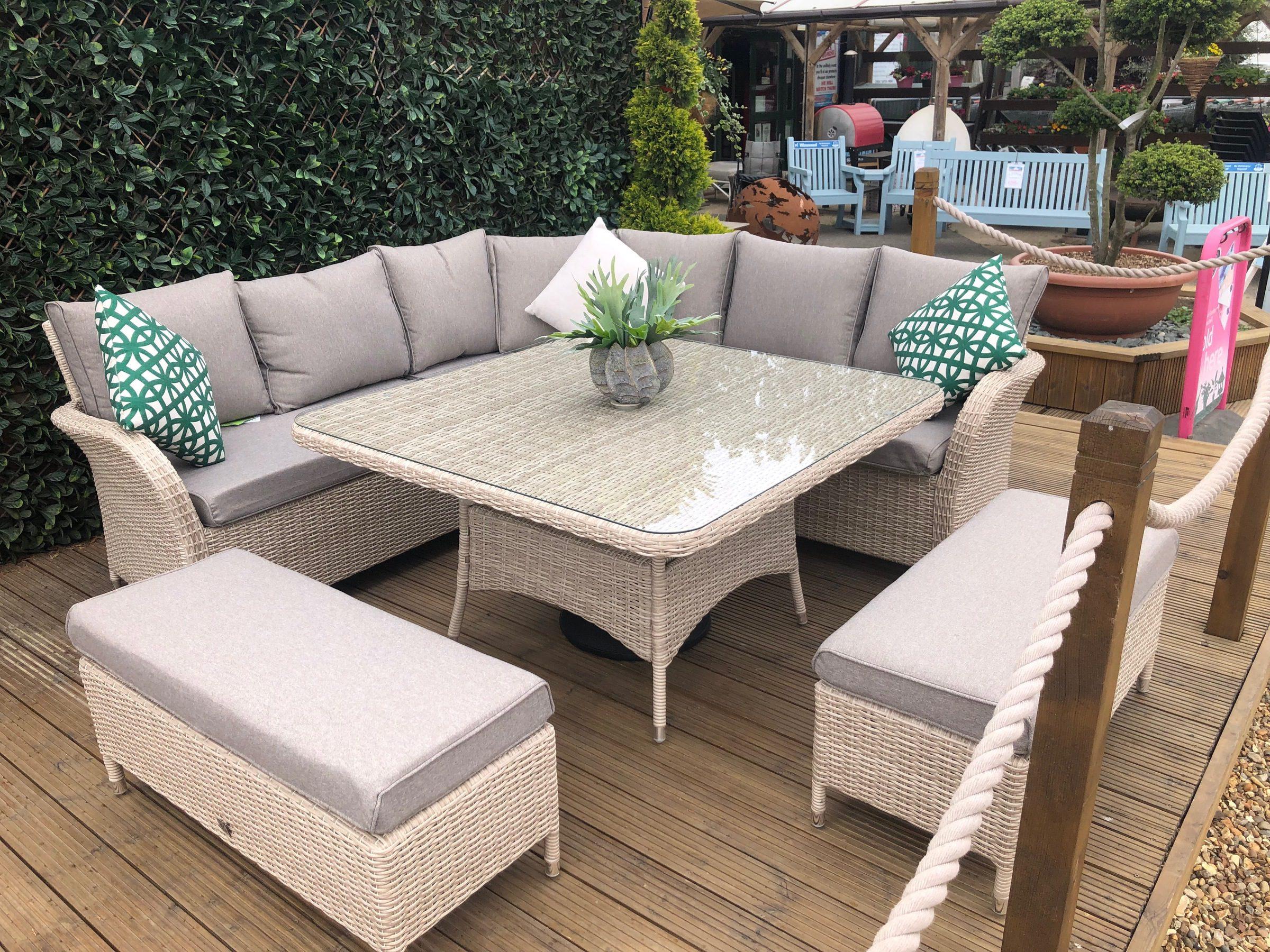 LeisureGrow Monaco Large Square Table Dining Set