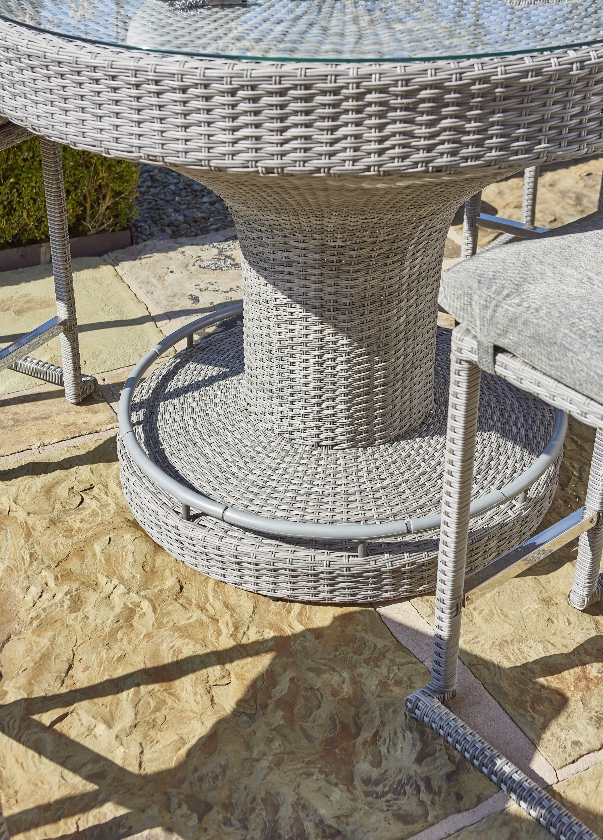 Norcamp Fiesta Round 6-Seat Bar with Ice Bucket