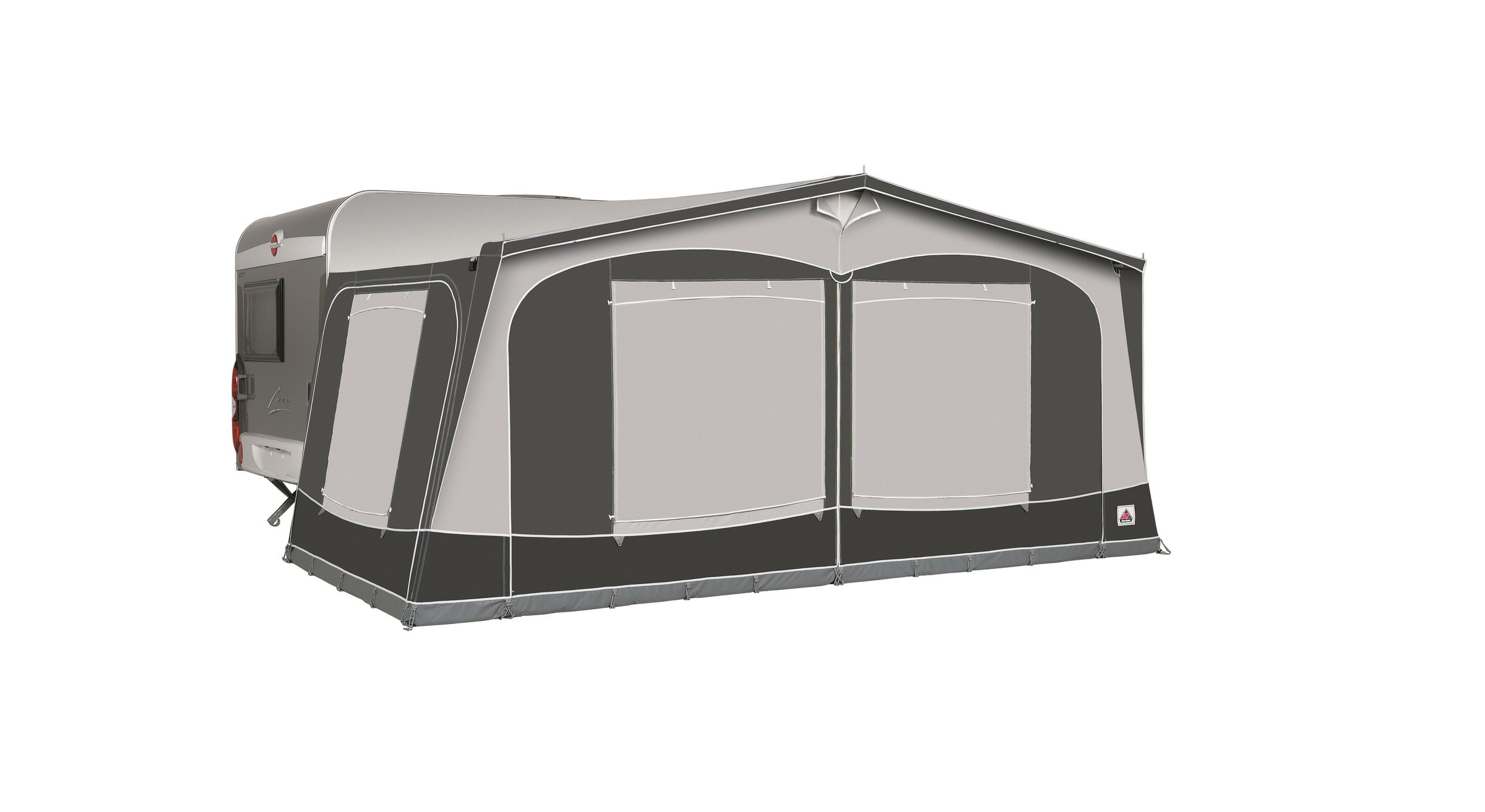 Garda 240 De Luxe Charcoal With Window Blinds Closed