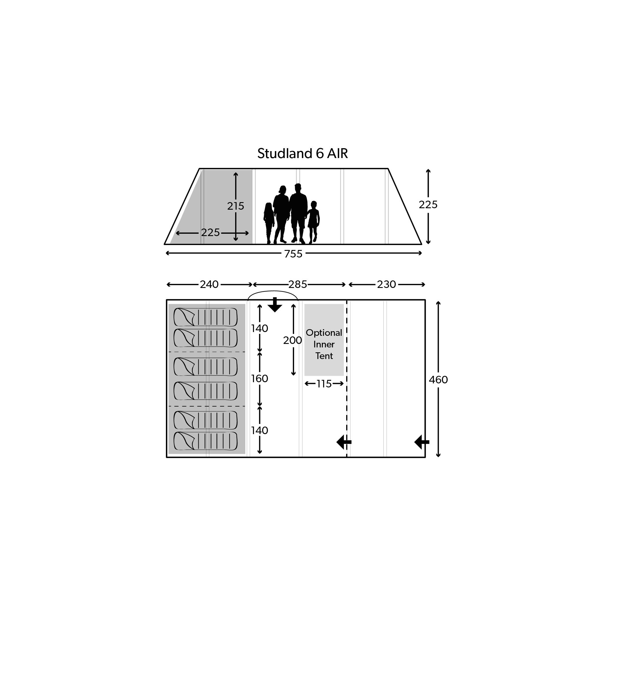 Studland 6 Air 2020 Floorplan
