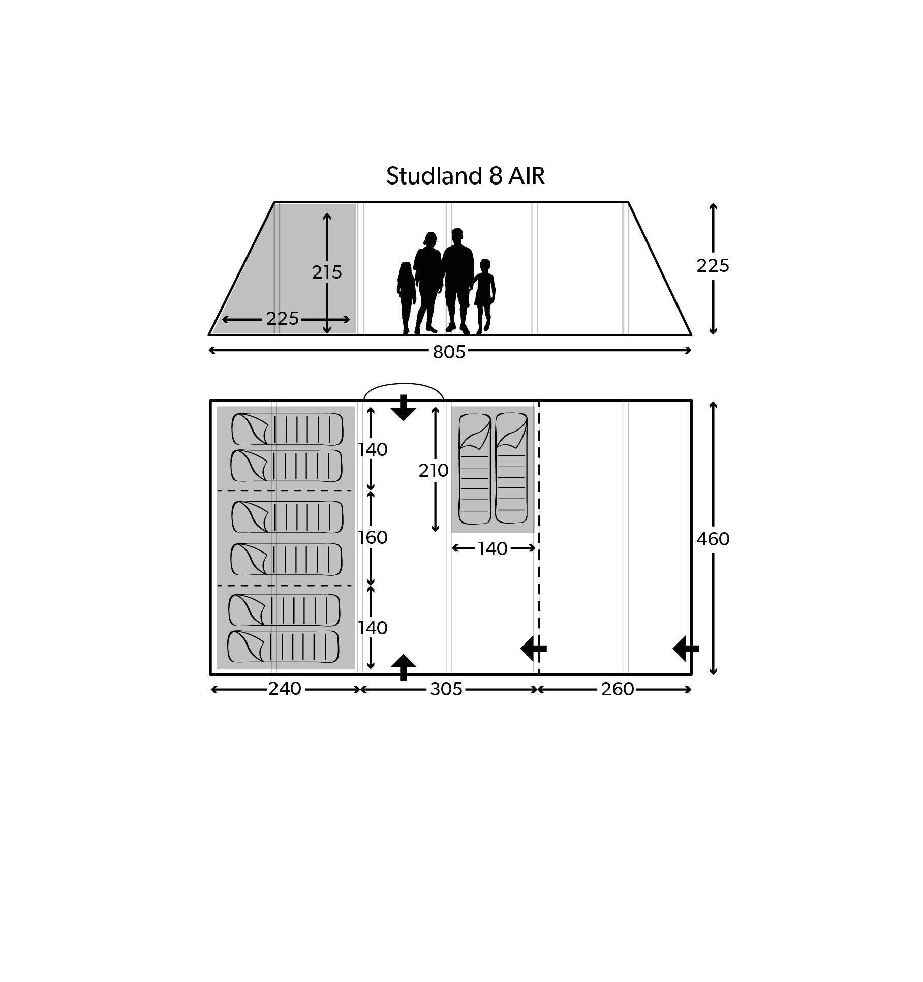 Studland 8 Air 2020 Floorplan