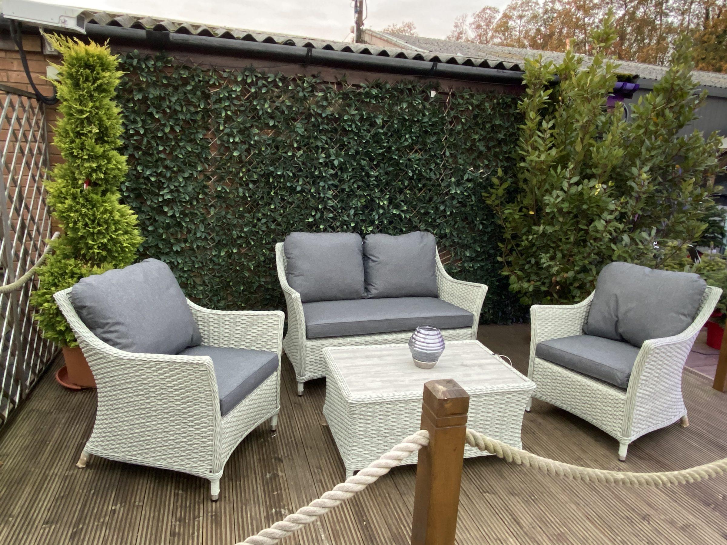 Bramblecrest Quinton Grey 4 Seat Lounge Set