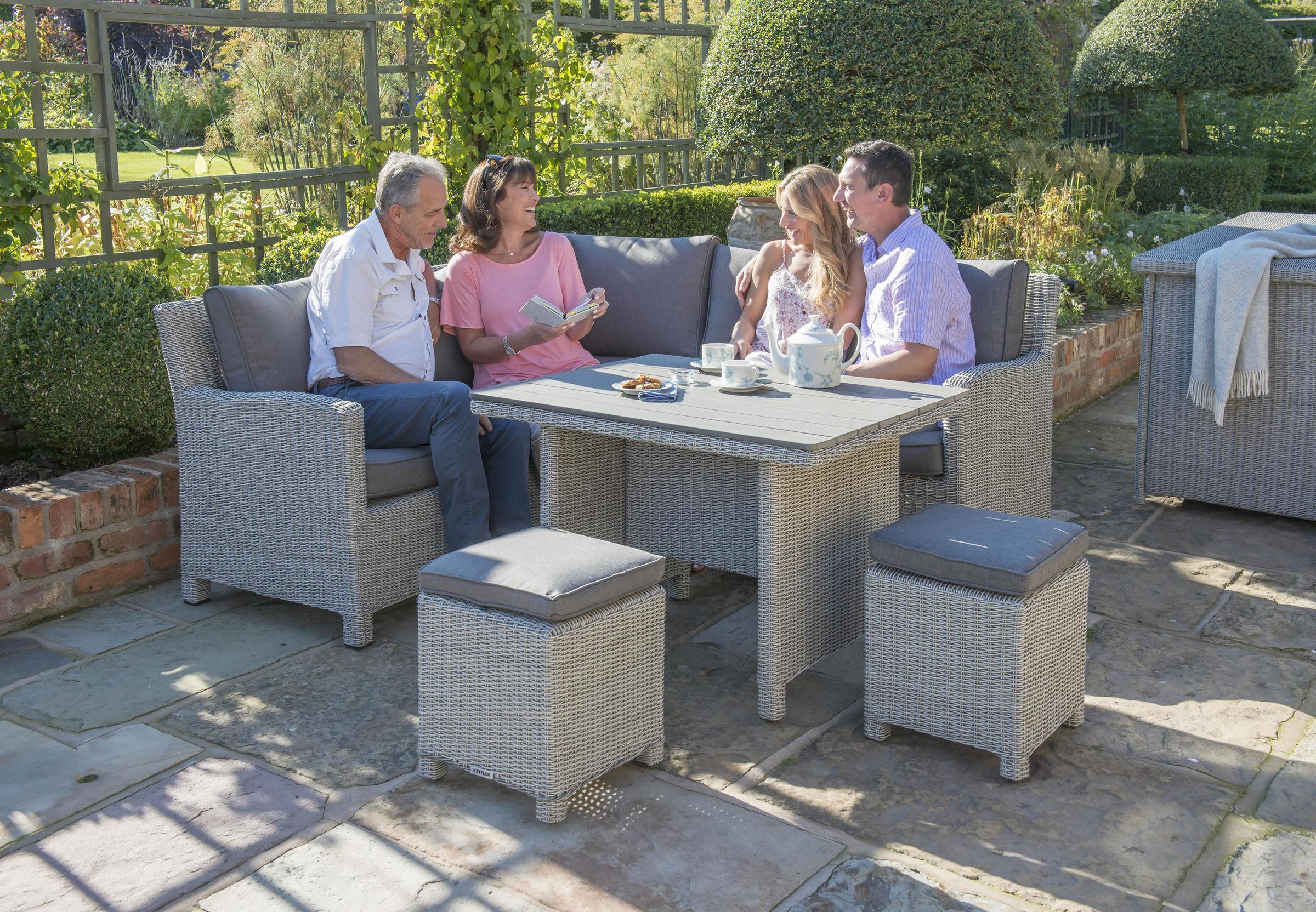 0193345 5510C Palma Mini Whitewash 0193317 5510 Palma Mini Slat Top Table Lifestyle Models 2