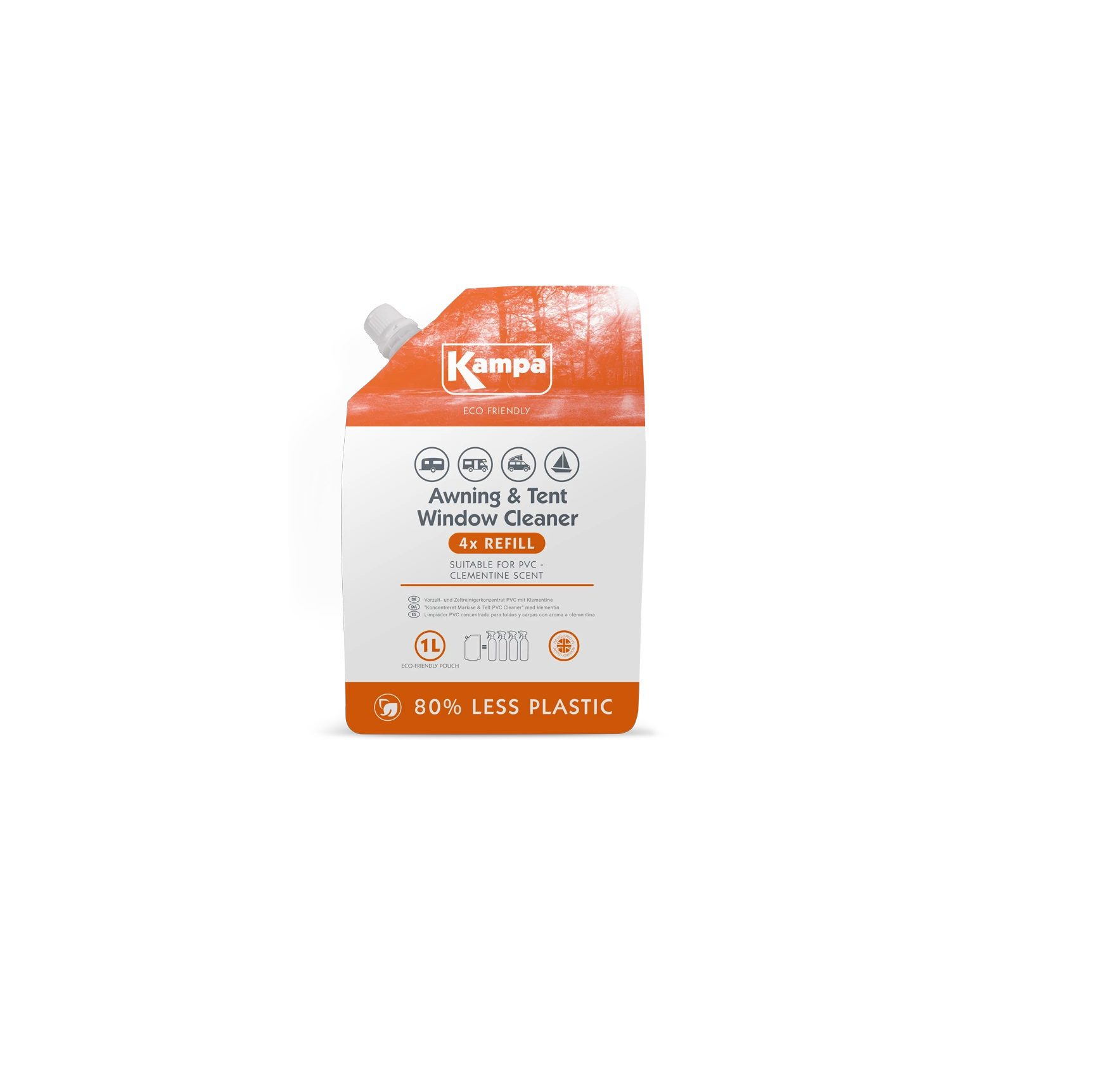 awning and tent window cleaner refill