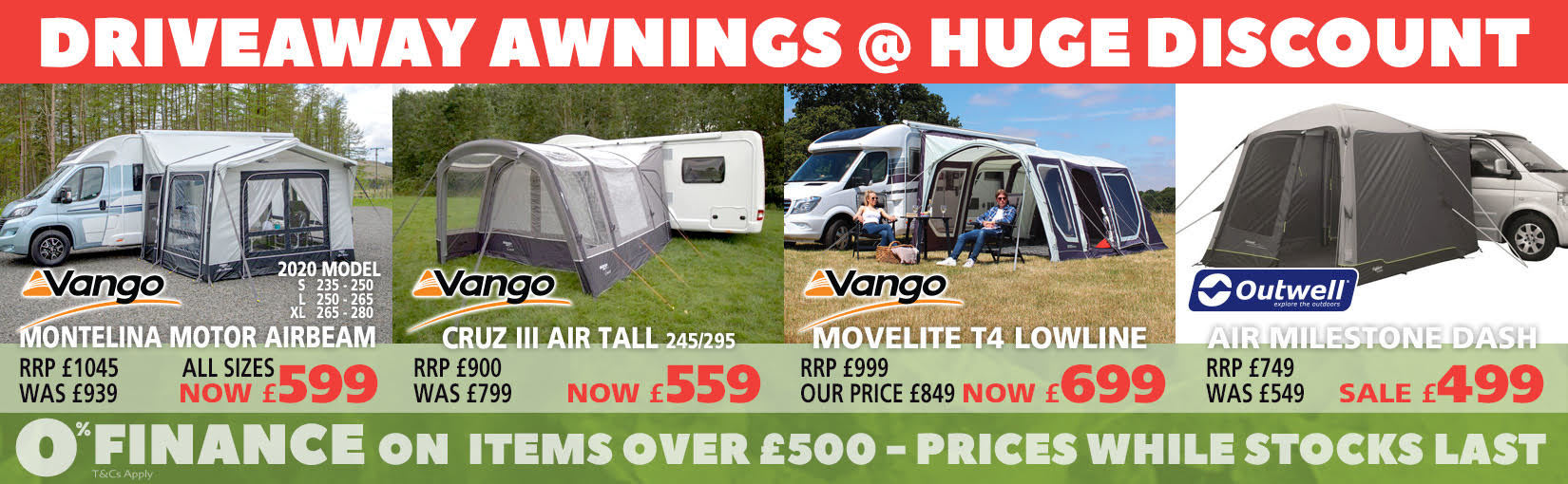 Driveaway Awnings Huge Discount