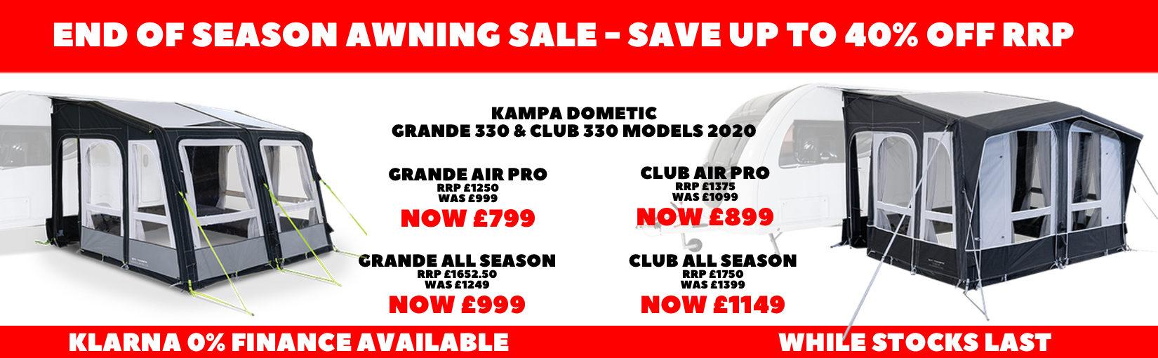 Kampa End Season Sale Club Grande 1650X510