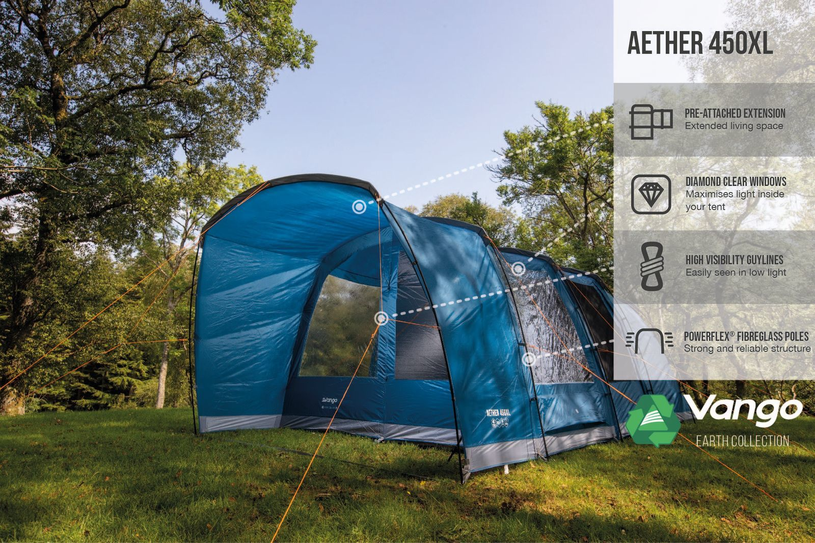 Vango Aether 450Xl Poled 20221 Norwich Camping 2