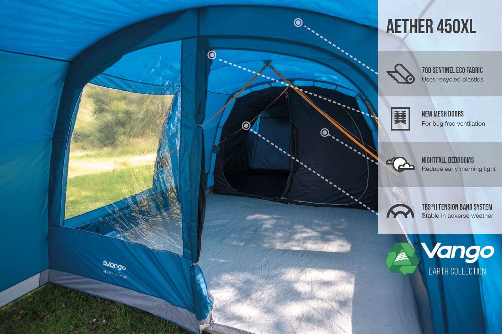 Vango Aether 450Xl Poled 20221 Norwich Camping 1