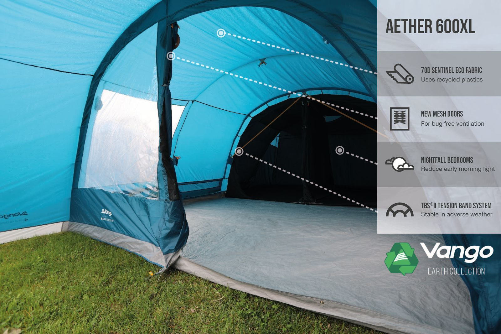 Vango Aether 600Xl Poled 2021 Norwich Camping 1